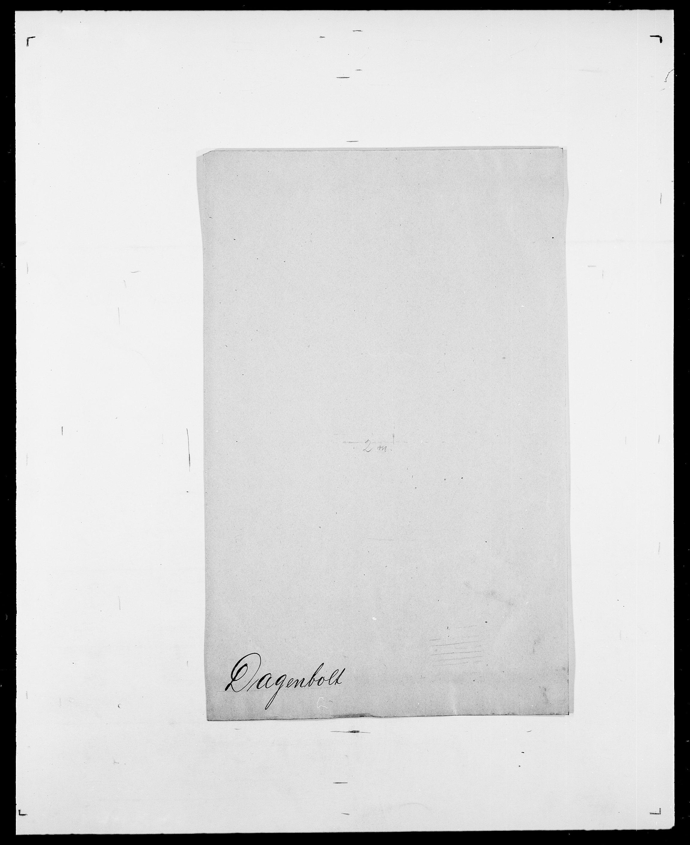 SAO, Delgobe, Charles Antoine - samling, D/Da/L0008: Capjon - Dagenbolt, s. 700