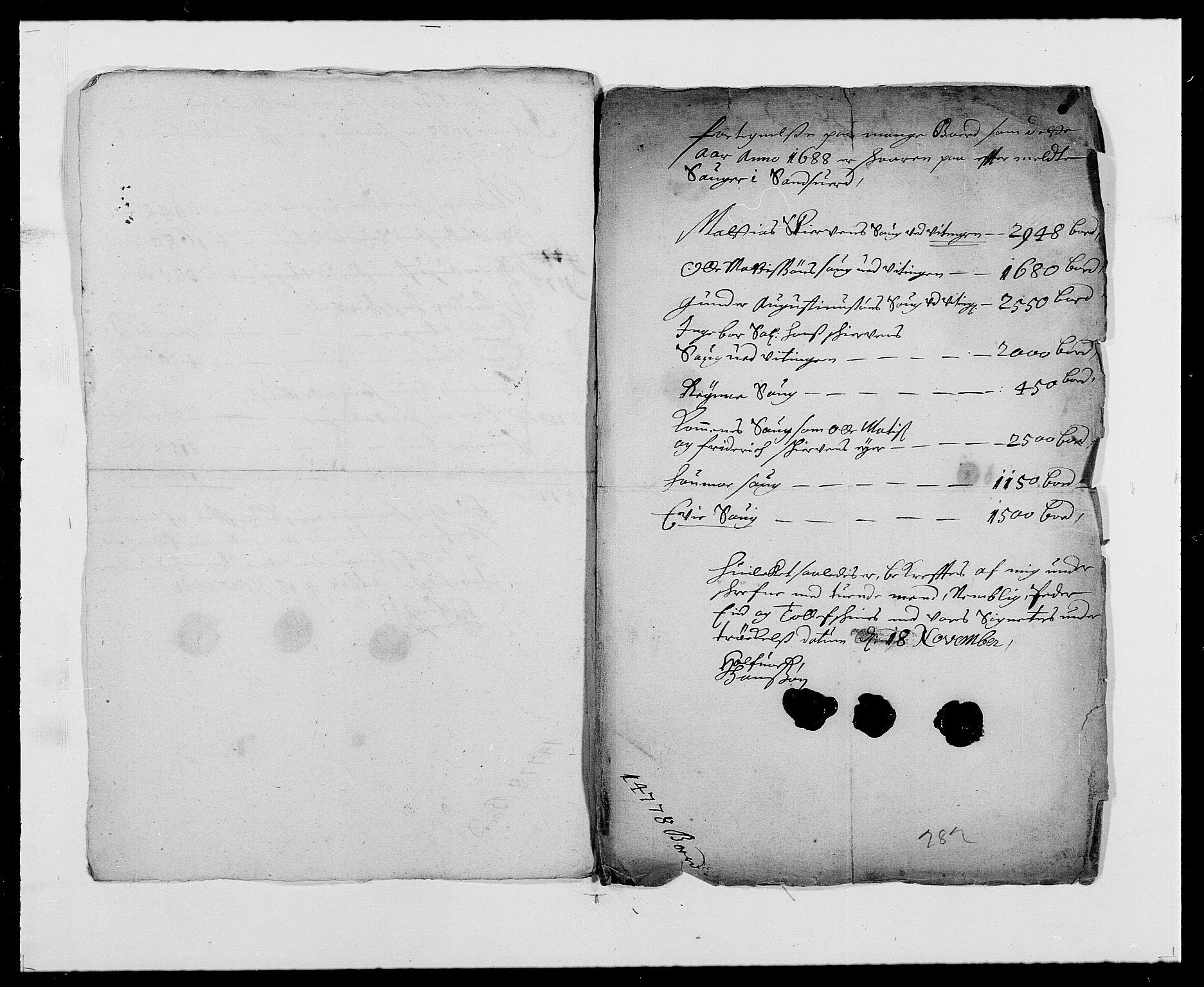 RA, Rentekammeret inntil 1814, Reviderte regnskaper, Fogderegnskap, R24/L1573: Fogderegnskap Numedal og Sandsvær, 1687-1691, s. 318