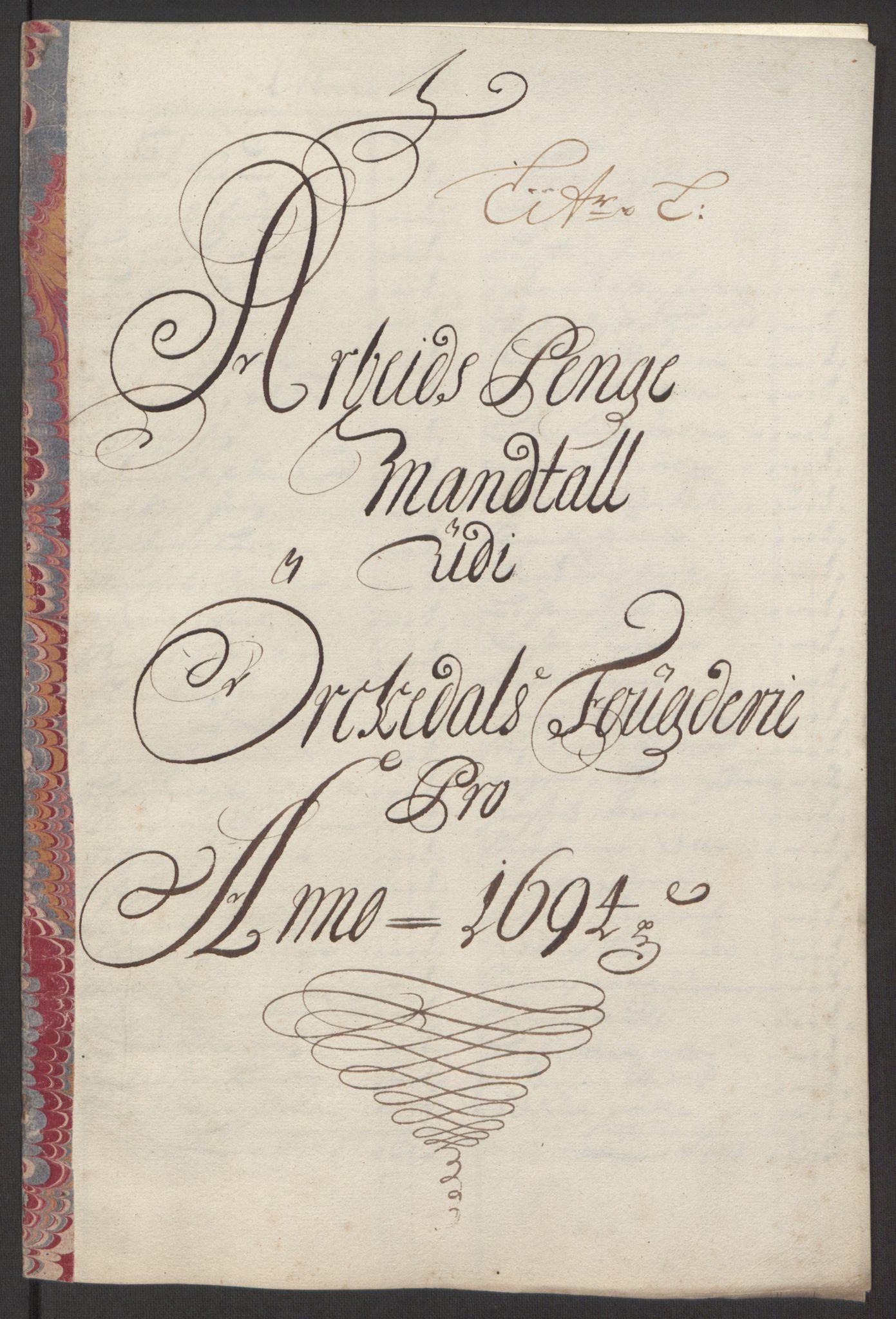 RA, Rentekammeret inntil 1814, Reviderte regnskaper, Fogderegnskap, R60/L3944: Fogderegnskap Orkdal og Gauldal, 1694, s. 137