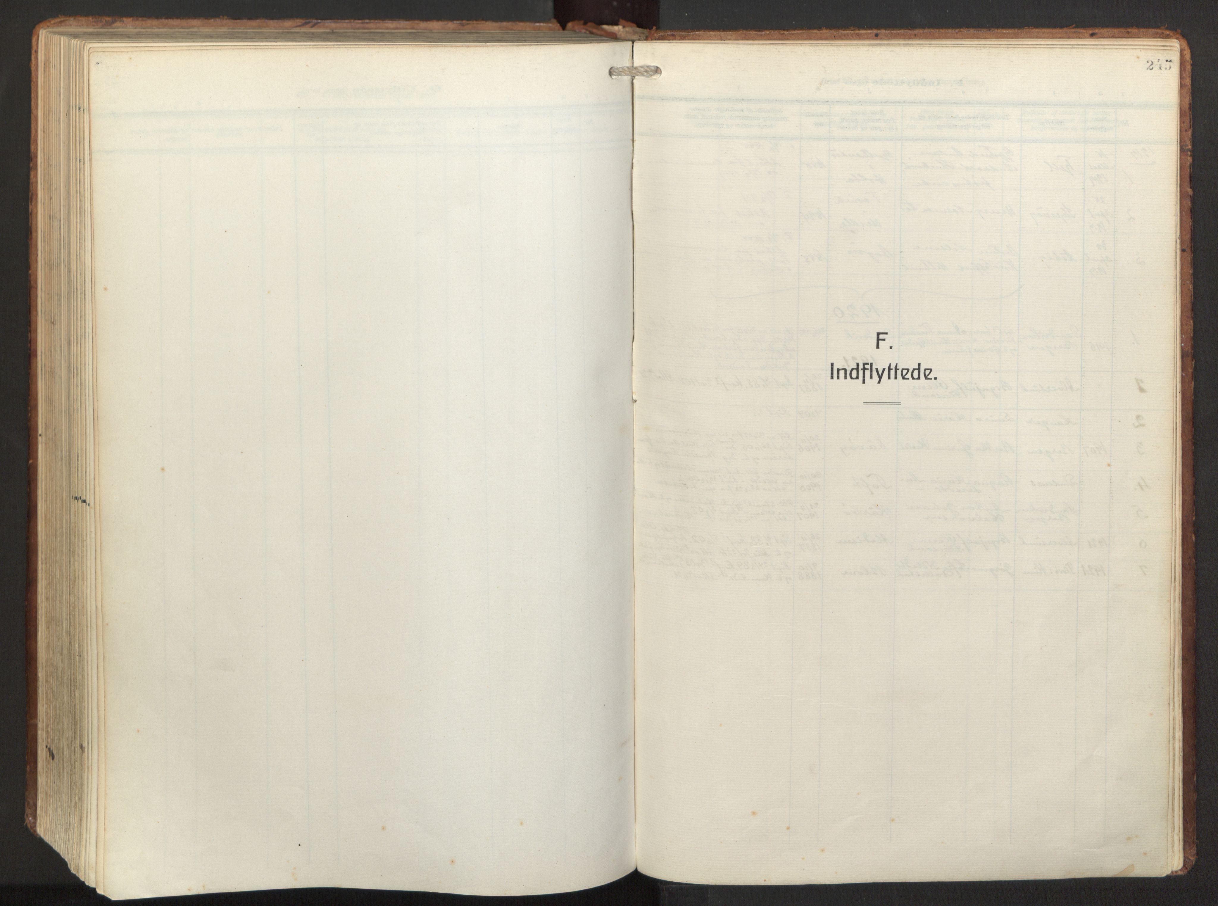 SAB, Herdla Sokneprestembete, H/Haa: Ministerialbok nr. A 6, 1918-1933, s. 245