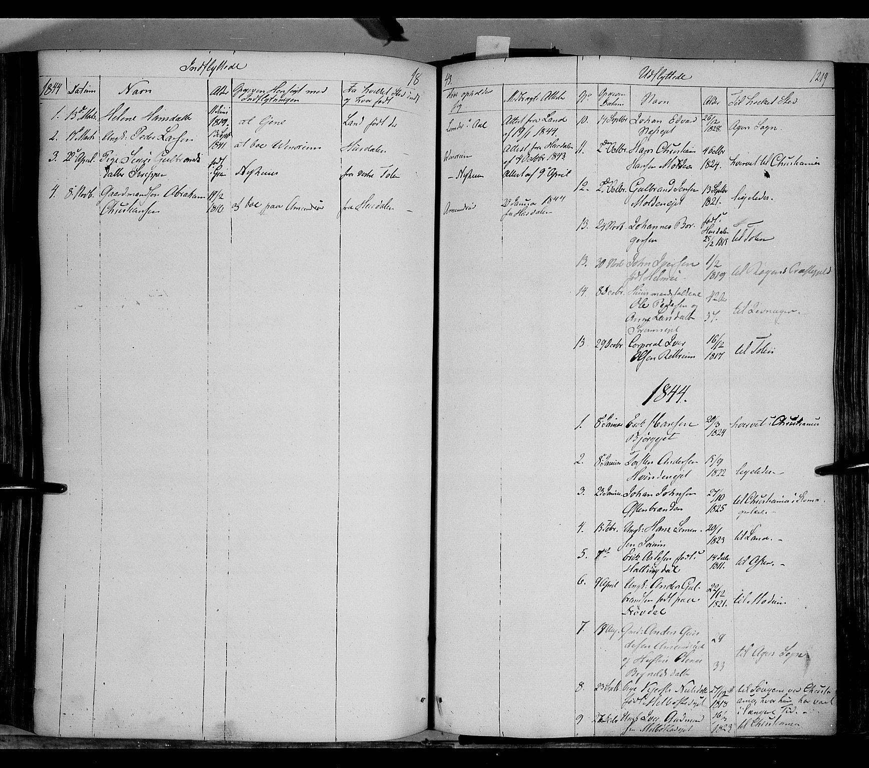 SAH, Gran prestekontor, Ministerialbok nr. 11, 1842-1856, s. 1218-1219