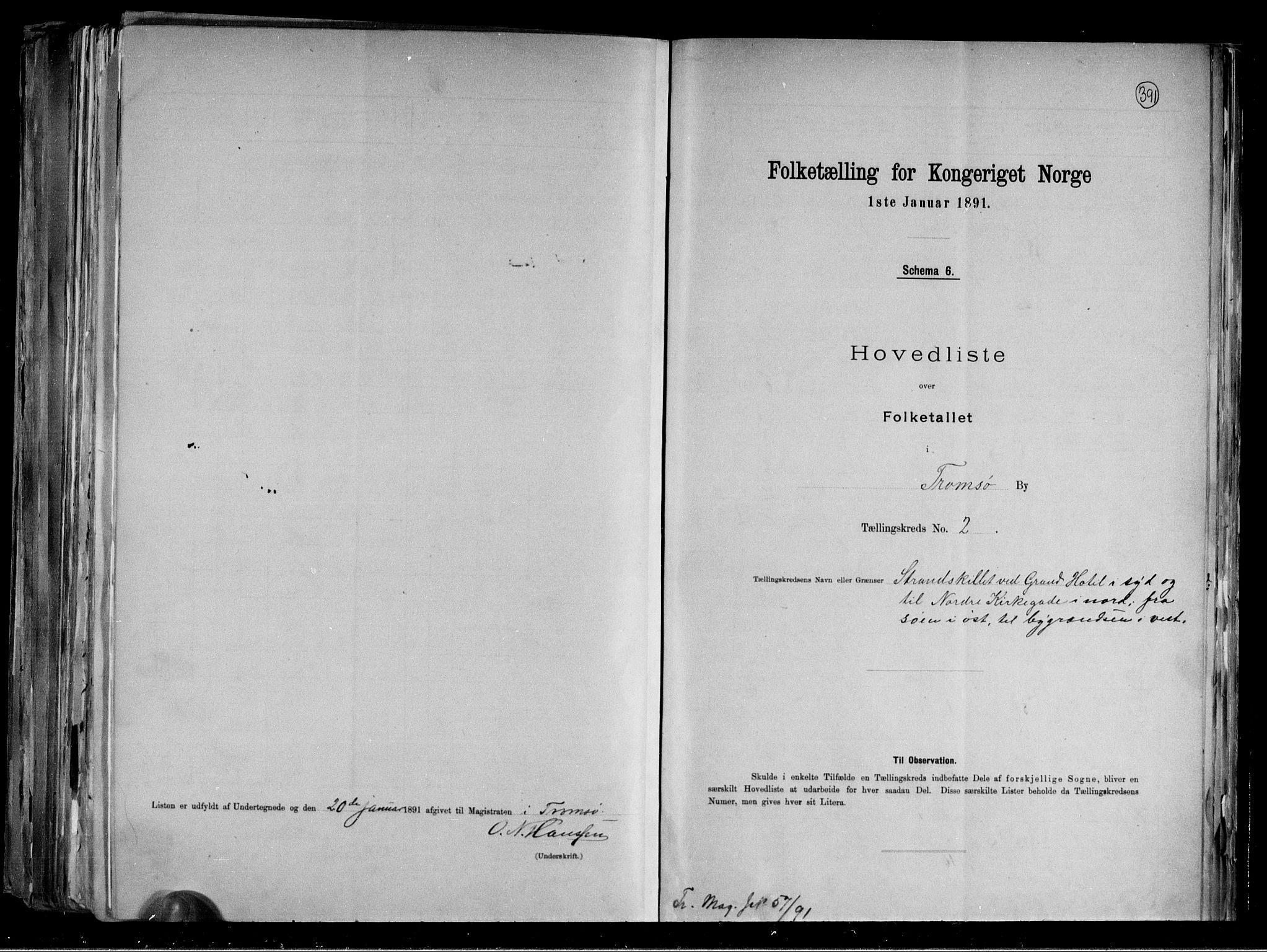 RA, Folketelling 1891 for 1902 Tromsø kjøpstad, 1891, s. 9