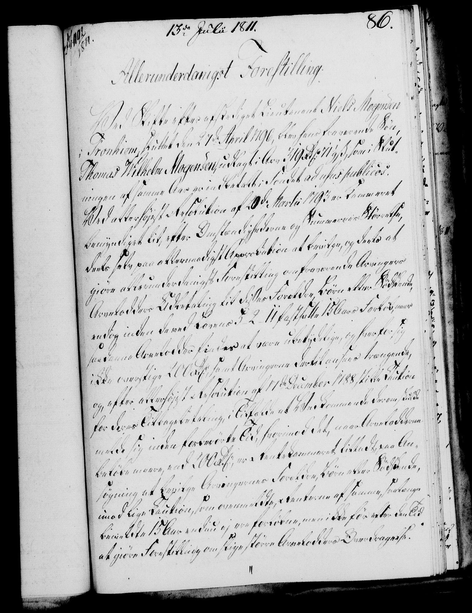 RA, Rentekammeret, Kammerkanselliet, G/Gf/Gfa/L0093: Norsk relasjons- og resolusjonsprotokoll (merket RK 52.93), 1811, s. 332