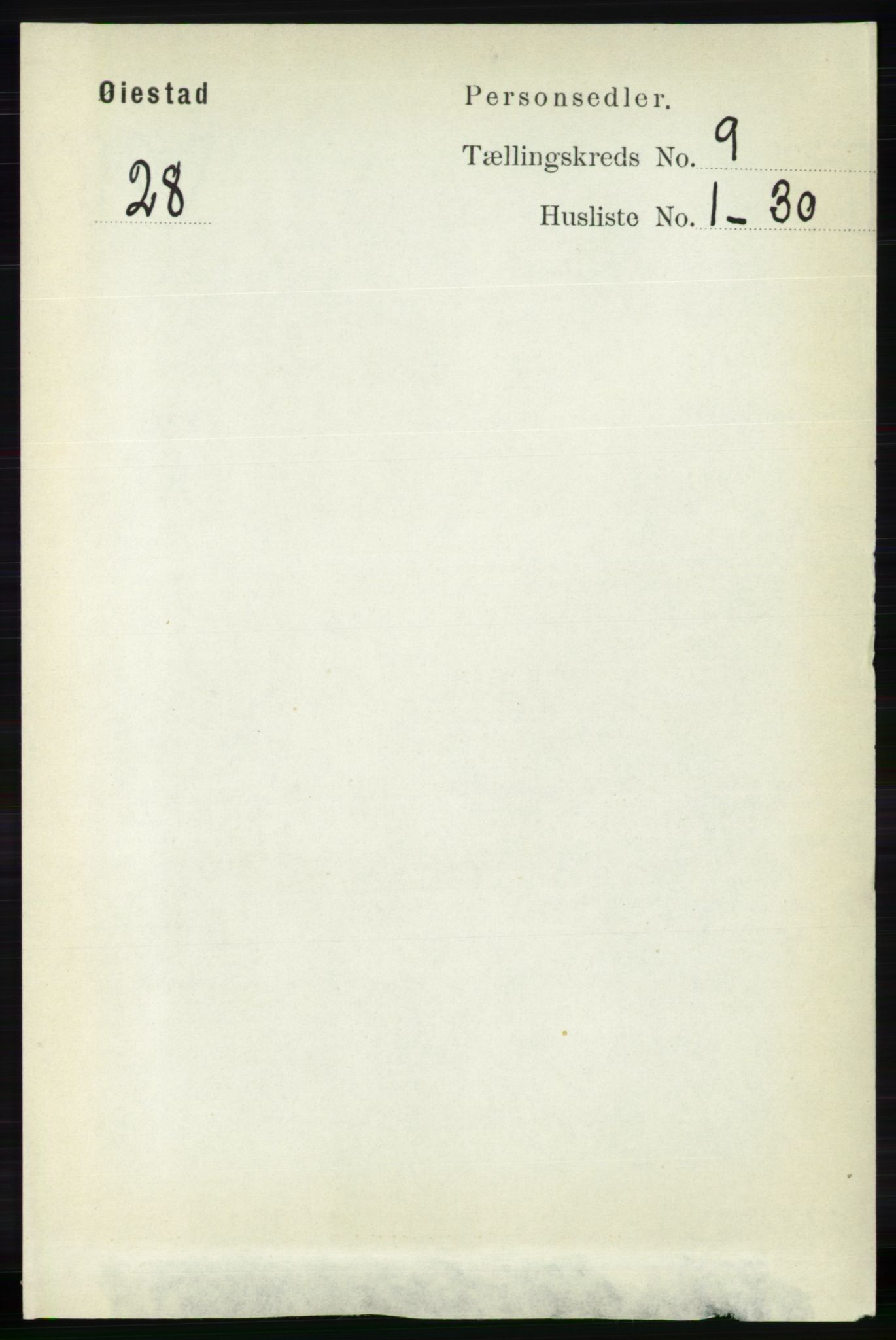 RA, Folketelling 1891 for 0920 Øyestad herred, 1891, s. 3568