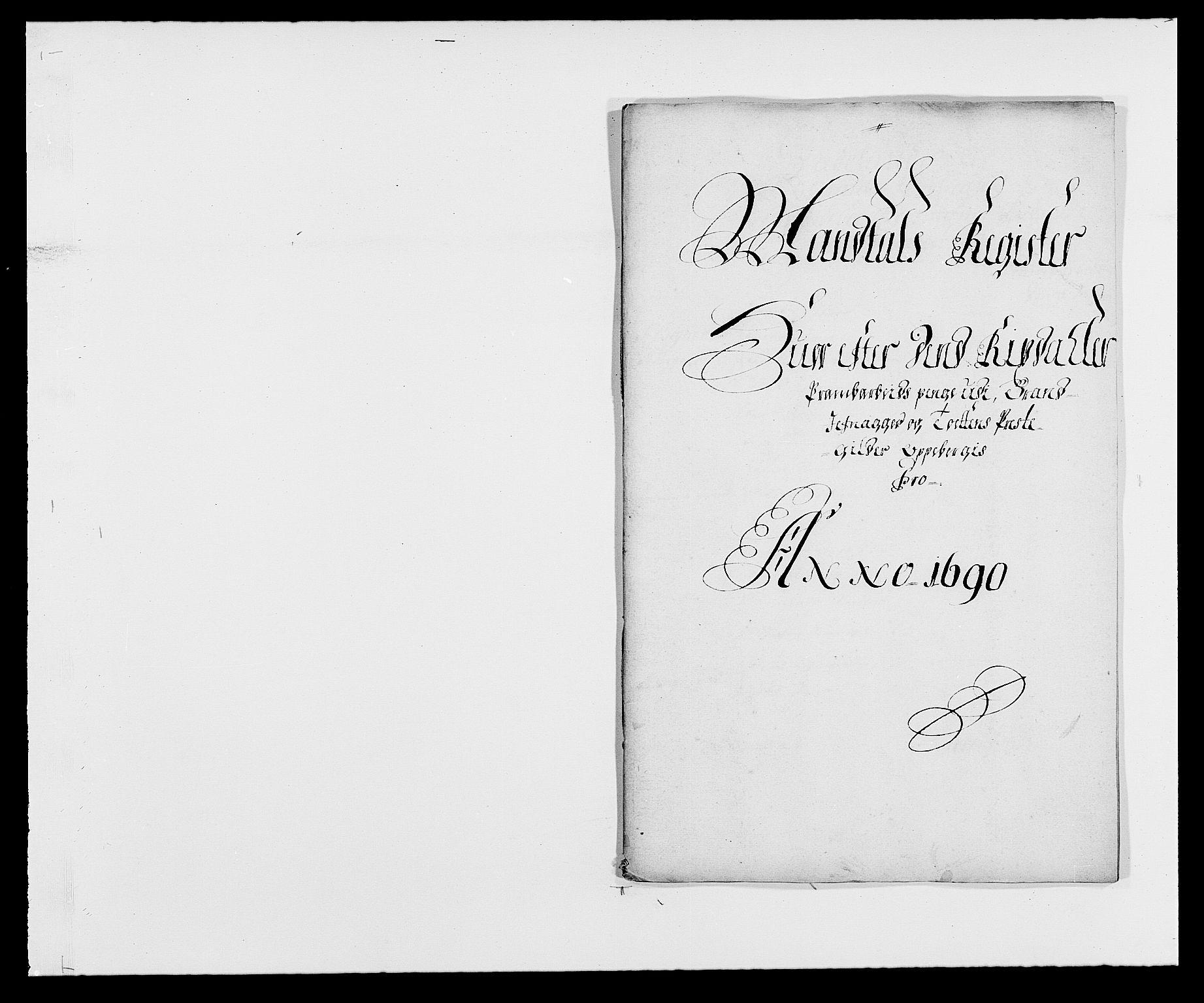 RA, Rentekammeret inntil 1814, Reviderte regnskaper, Fogderegnskap, R18/L1289: Fogderegnskap Hadeland, Toten og Valdres, 1690, s. 209