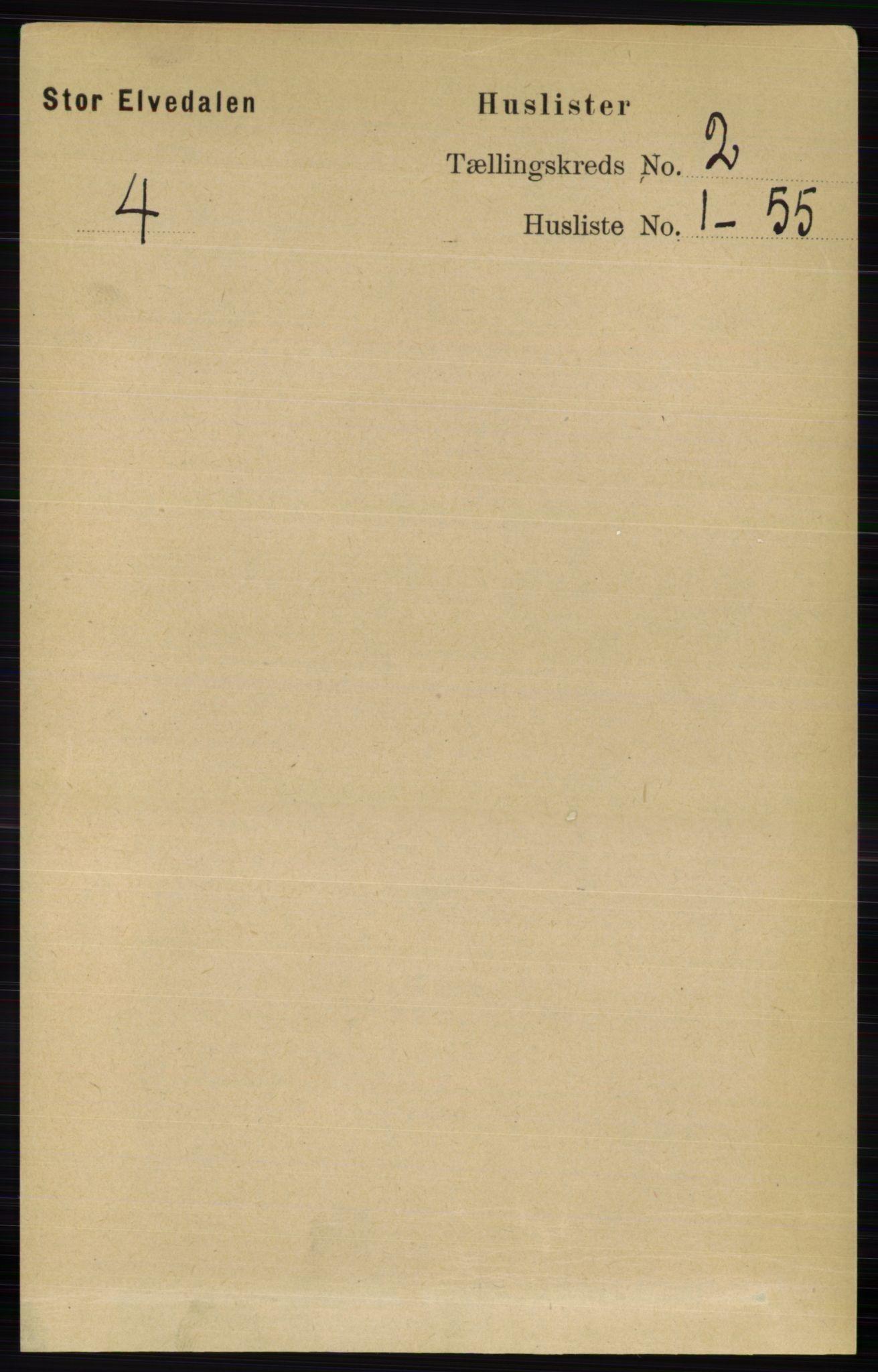 RA, Folketelling 1891 for 0430 Stor-Elvdal herred, 1891, s. 327