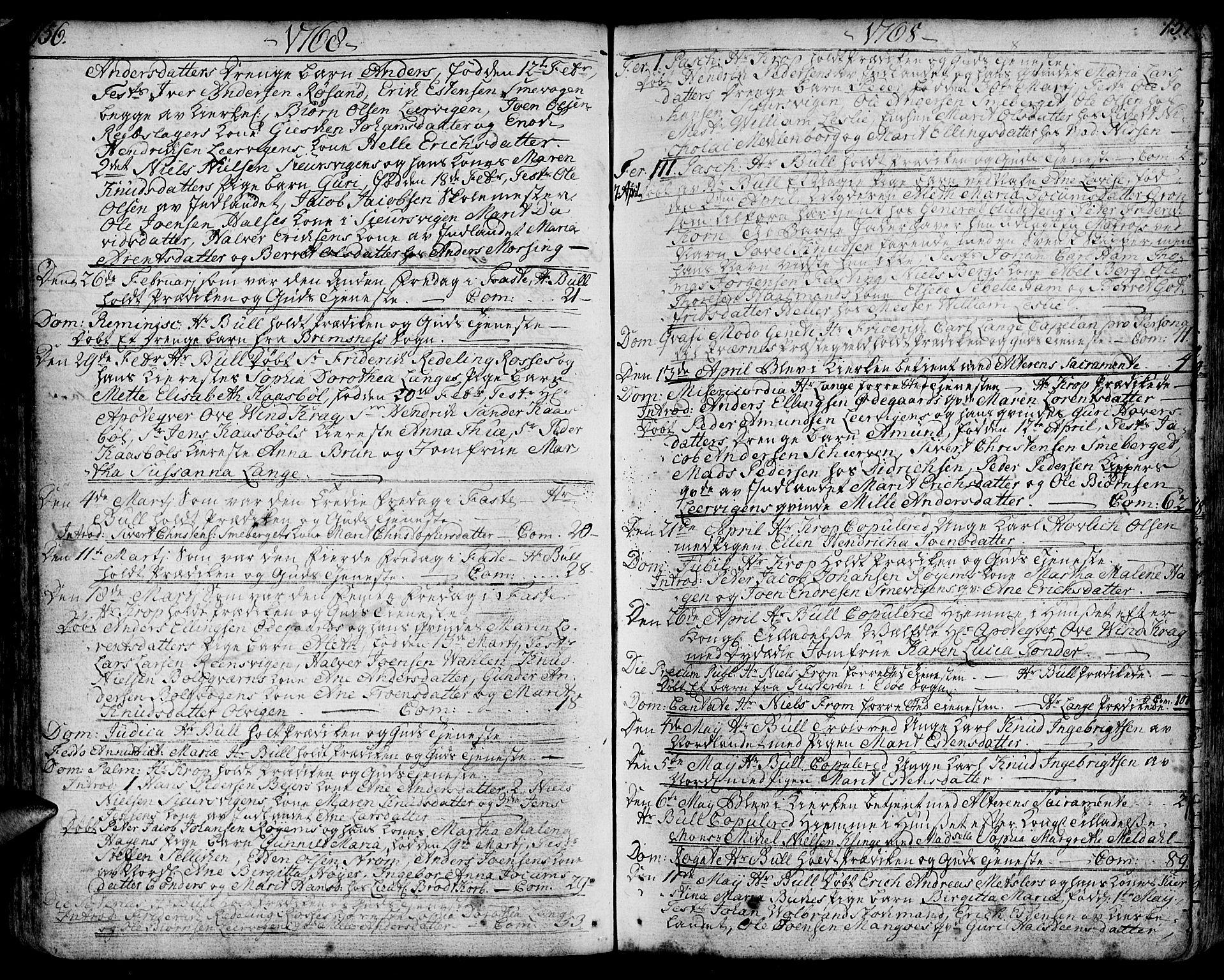 SAT, Ministerialprotokoller, klokkerbøker og fødselsregistre - Møre og Romsdal, 572/L0840: Ministerialbok nr. 572A03, 1754-1784, s. 156-157