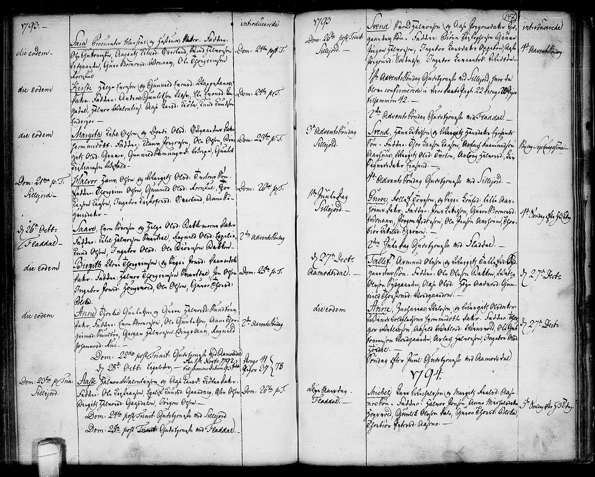 SAKO, Seljord kirkebøker, F/Fa/L0007: Ministerialbok nr. I 7, 1755-1800, s. 147