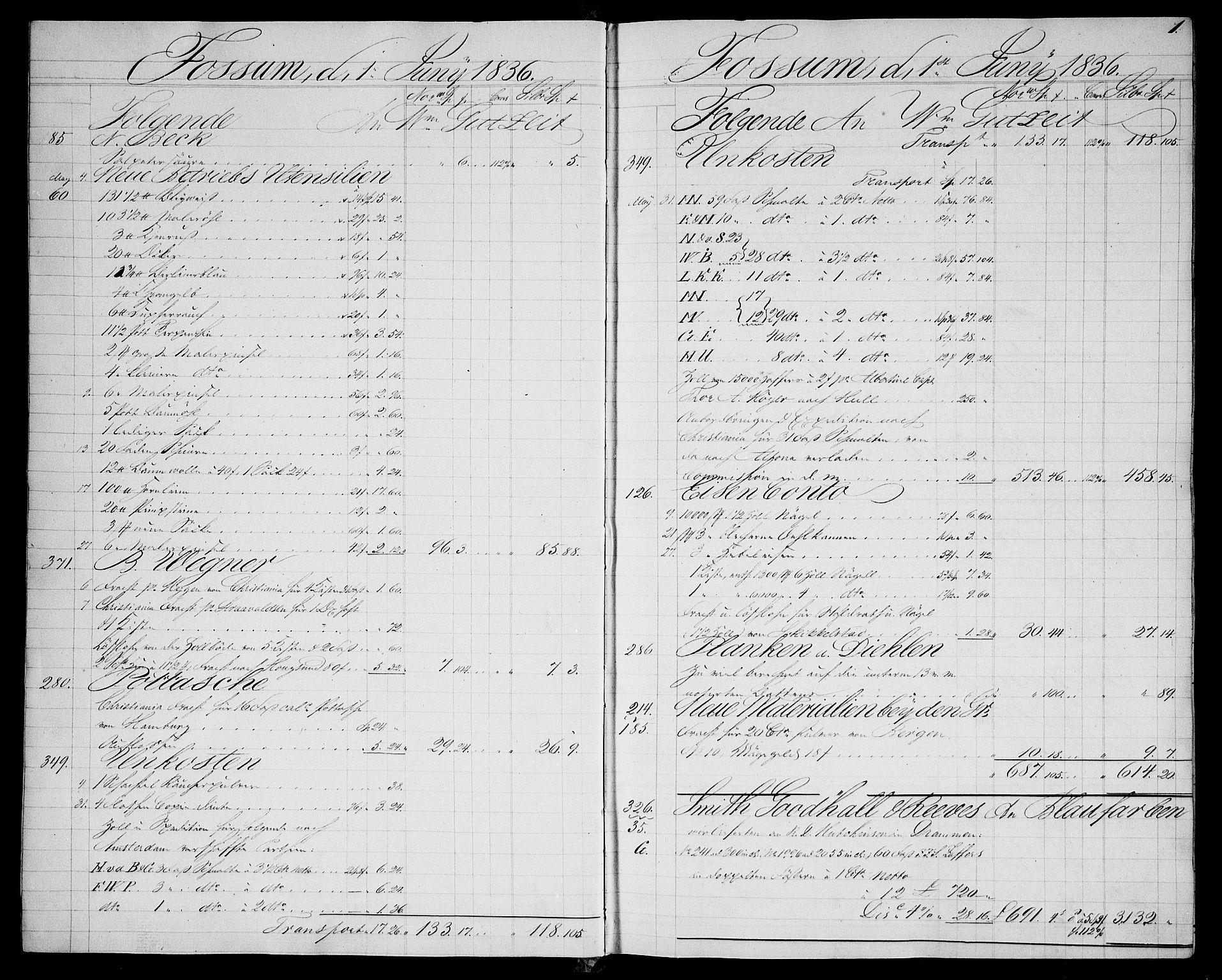 RA, Modums Blaafarveværk, G/Gd/Gda/L0168, 1836-1844, s. 2