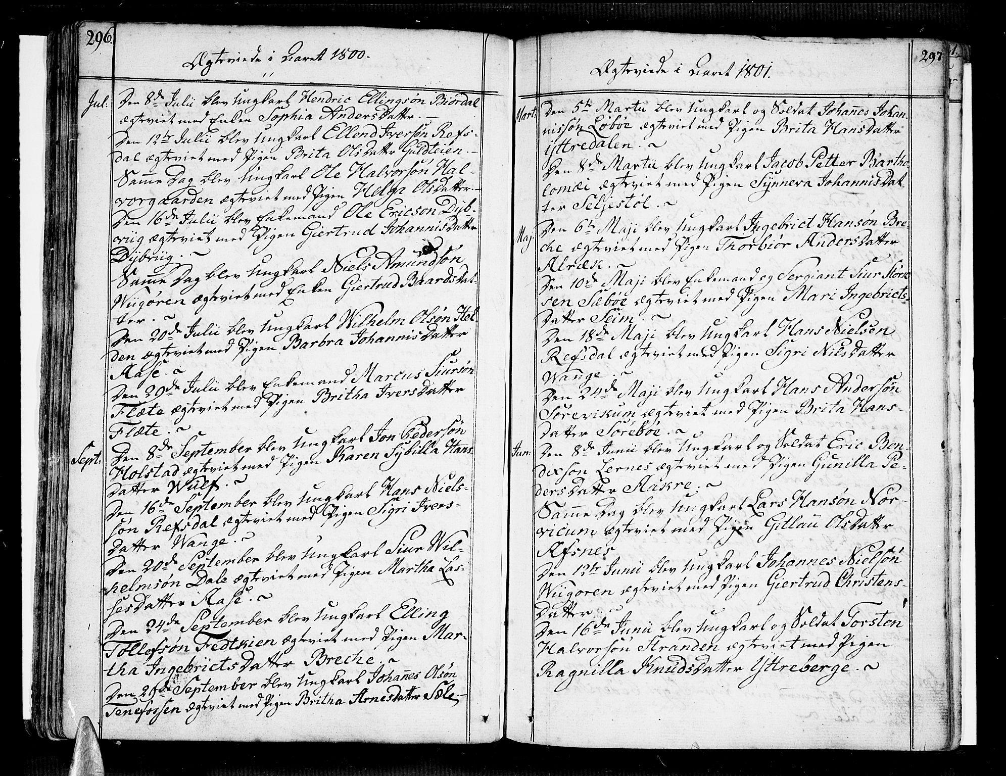 SAB, Vik Sokneprestembete, Ministerialbok nr. A 5, 1787-1820, s. 296-297