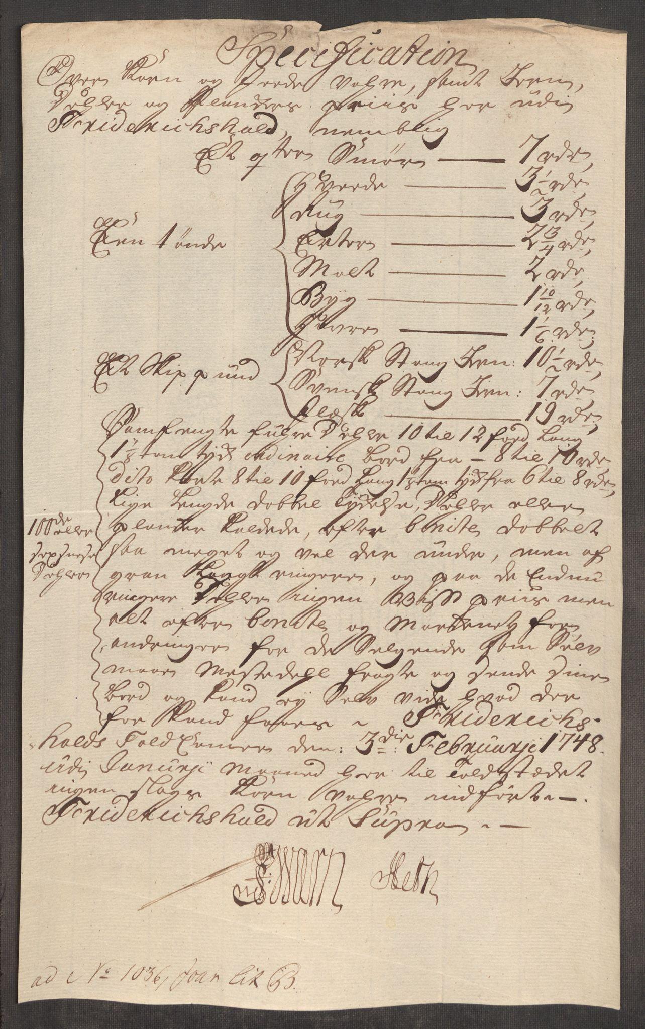 RA, Rentekammeret inntil 1814, Realistisk ordnet avdeling, Oe/L0003: [Ø1]: Priskuranter, 1745-1748, s. 666