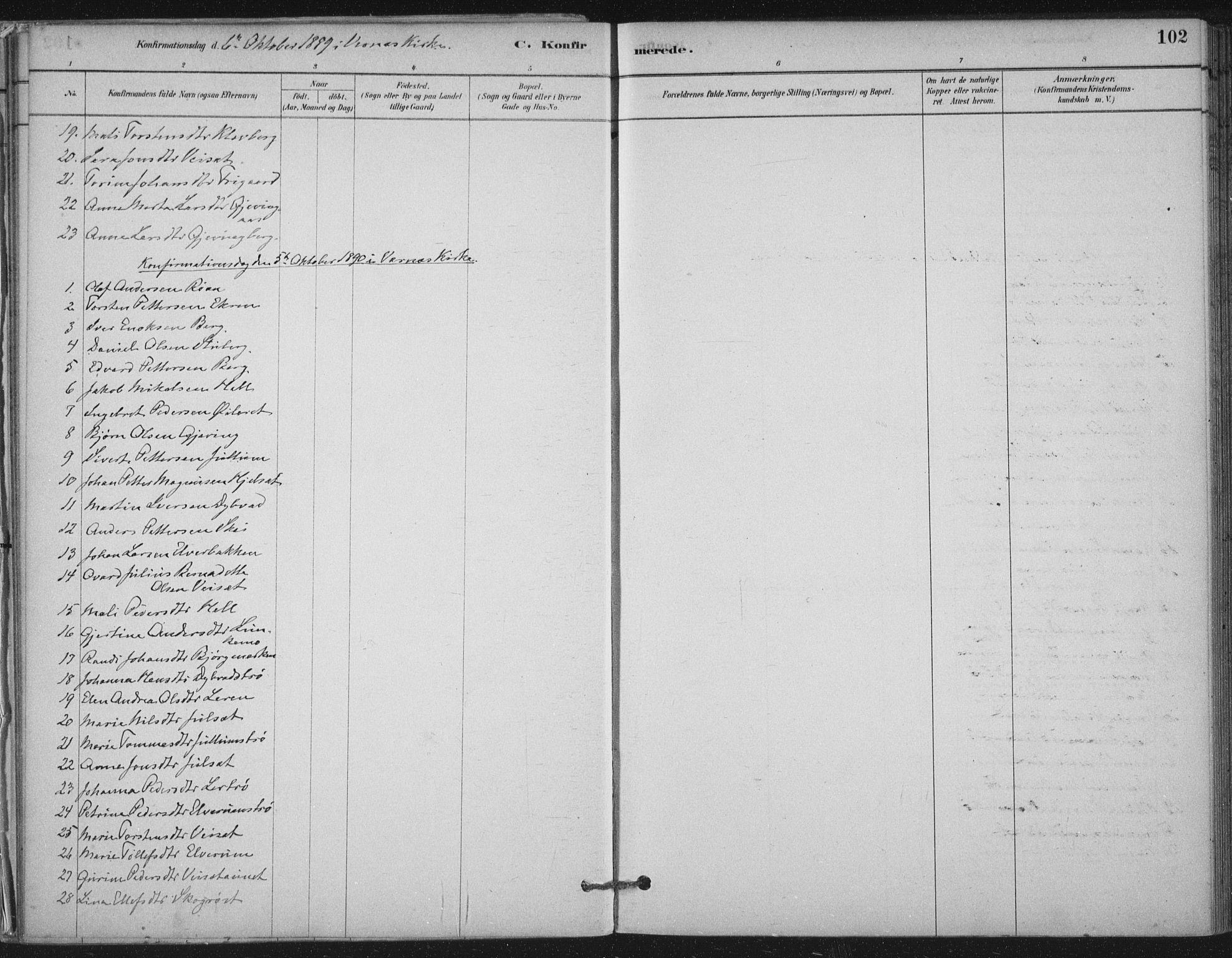 SAT, Ministerialprotokoller, klokkerbøker og fødselsregistre - Nord-Trøndelag, 710/L0095: Ministerialbok nr. 710A01, 1880-1914, s. 102