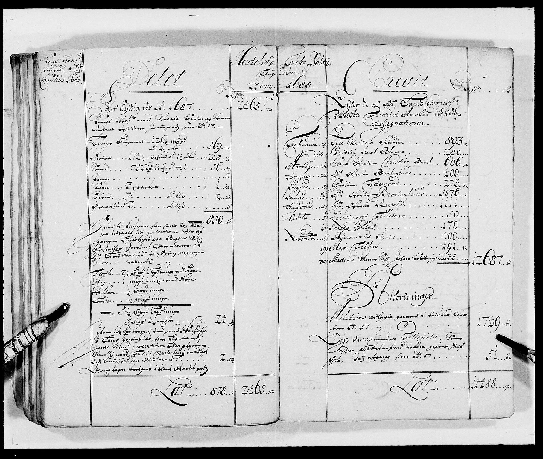 RA, Rentekammeret inntil 1814, Reviderte regnskaper, Fogderegnskap, R18/L1287: Fogderegnskap Hadeland, Toten og Valdres, 1688, s. 136