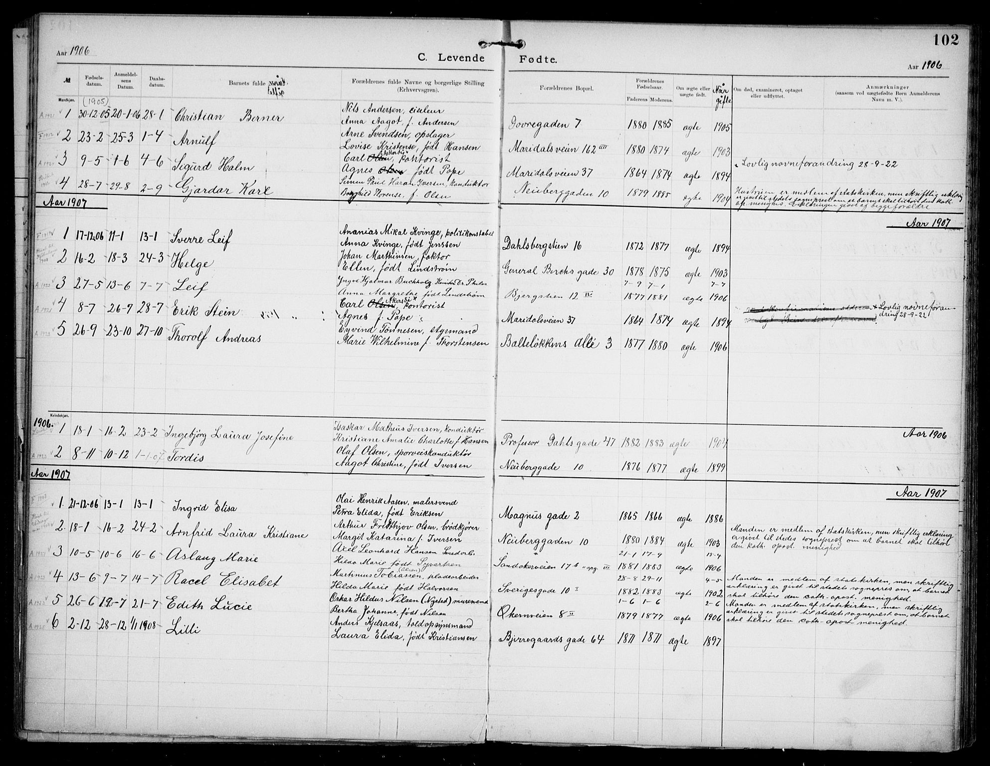 SAO, Den katolsk apostoliske menighet i Oslo , F/Fa/L0002: Dissenterprotokoll nr. 2, 1892-1937, s. 102