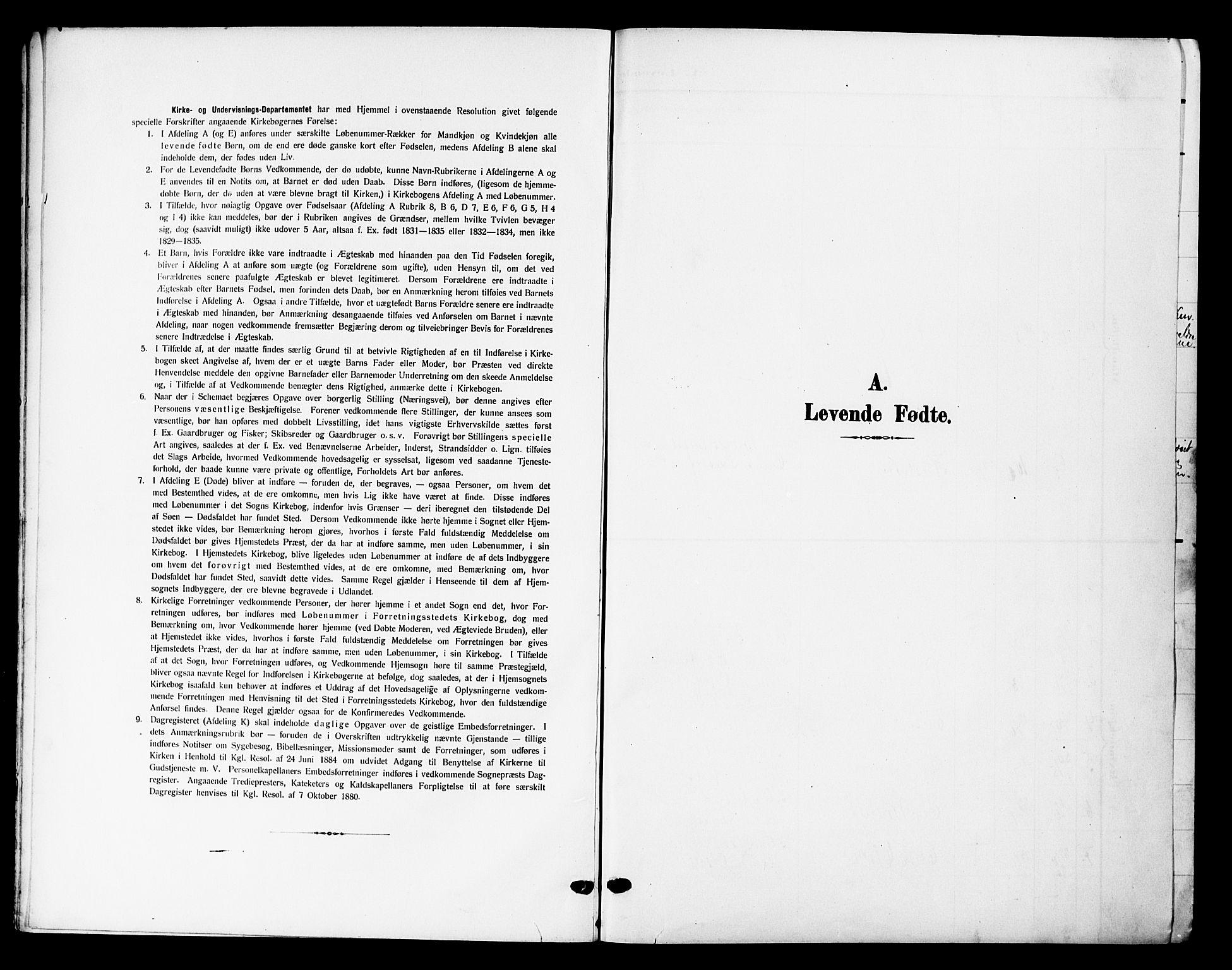 SAH, Lesja prestekontor, Klokkerbok nr. 8, 1905-1931