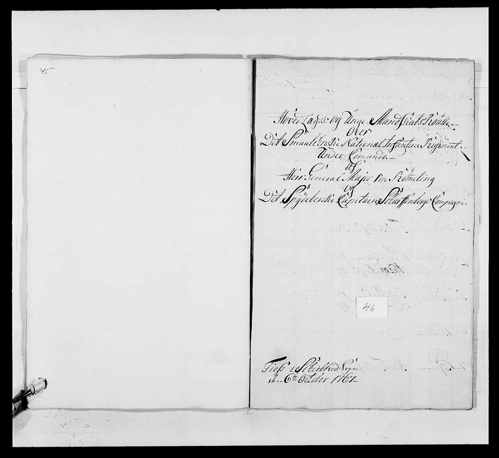 RA, Kommanderende general (KG I) med Det norske krigsdirektorium, E/Ea/L0496: 1. Smålenske regiment, 1765-1767, s. 901