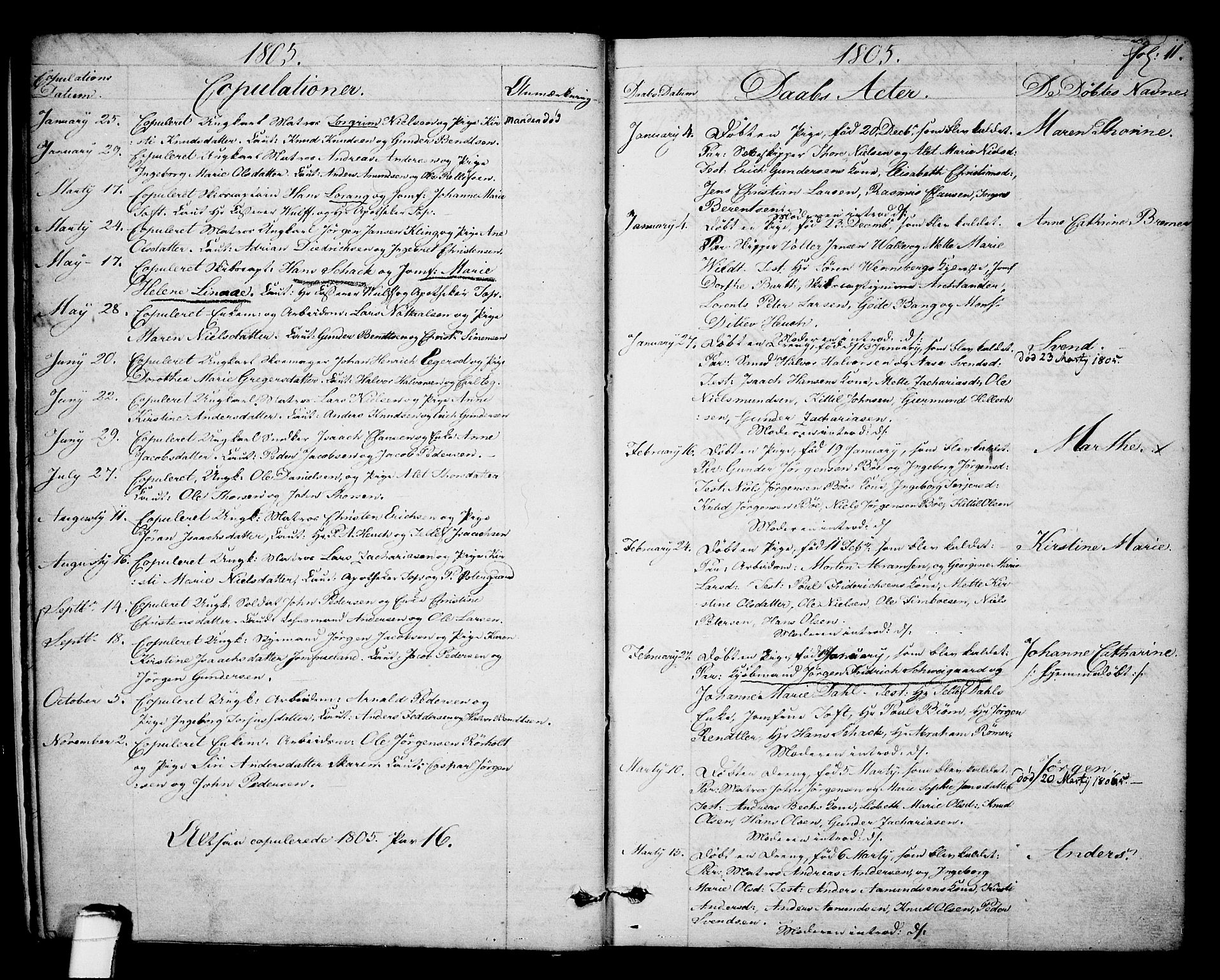 SAKO, Kragerø kirkebøker, F/Fa/L0003: Ministerialbok nr. 3, 1802-1813, s. 11