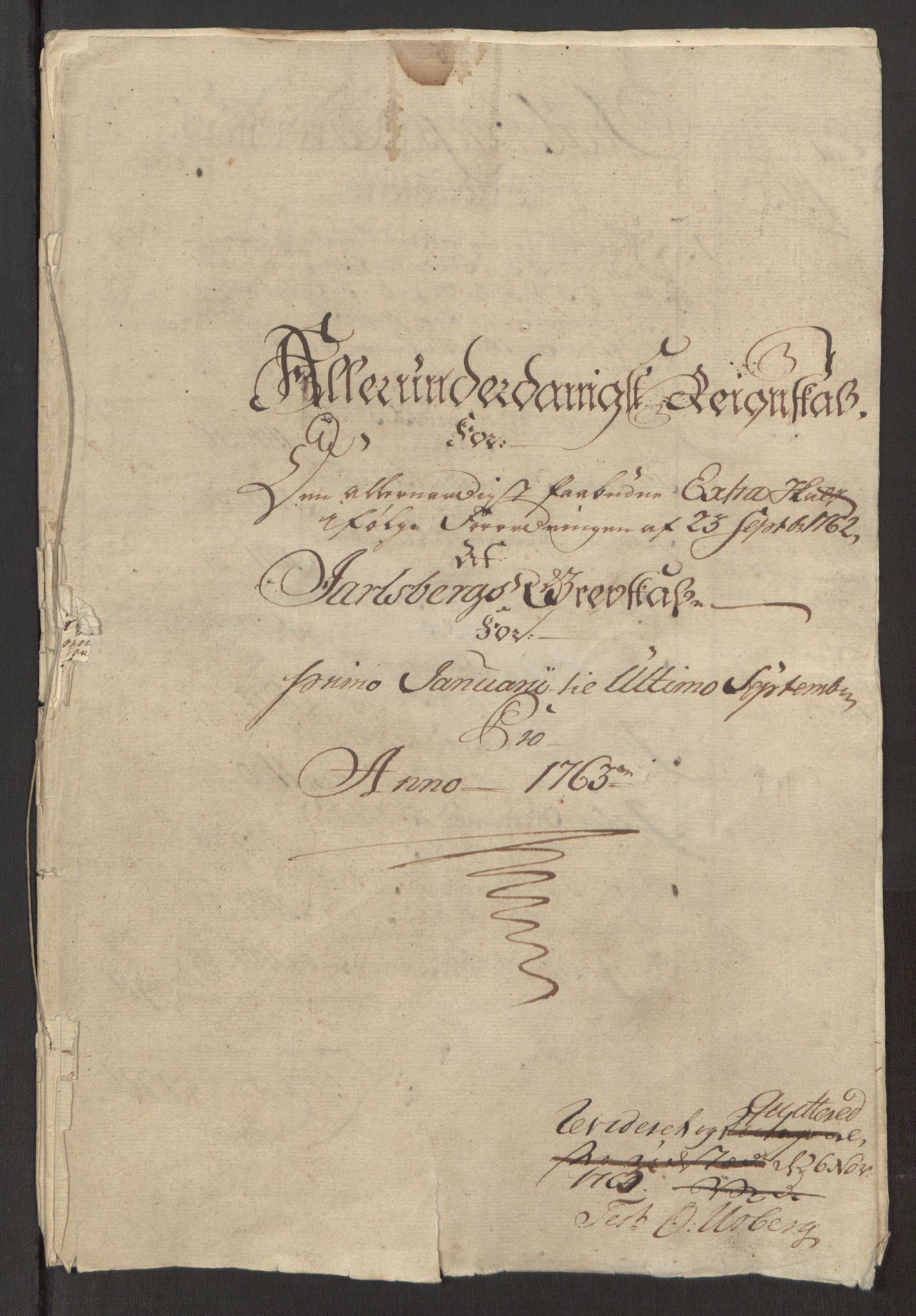 RA, Rentekammeret inntil 1814, Reviderte regnskaper, Fogderegnskap, R32/L1960: Ekstraskatten Jarlsberg grevskap, 1762-1772, s. 23