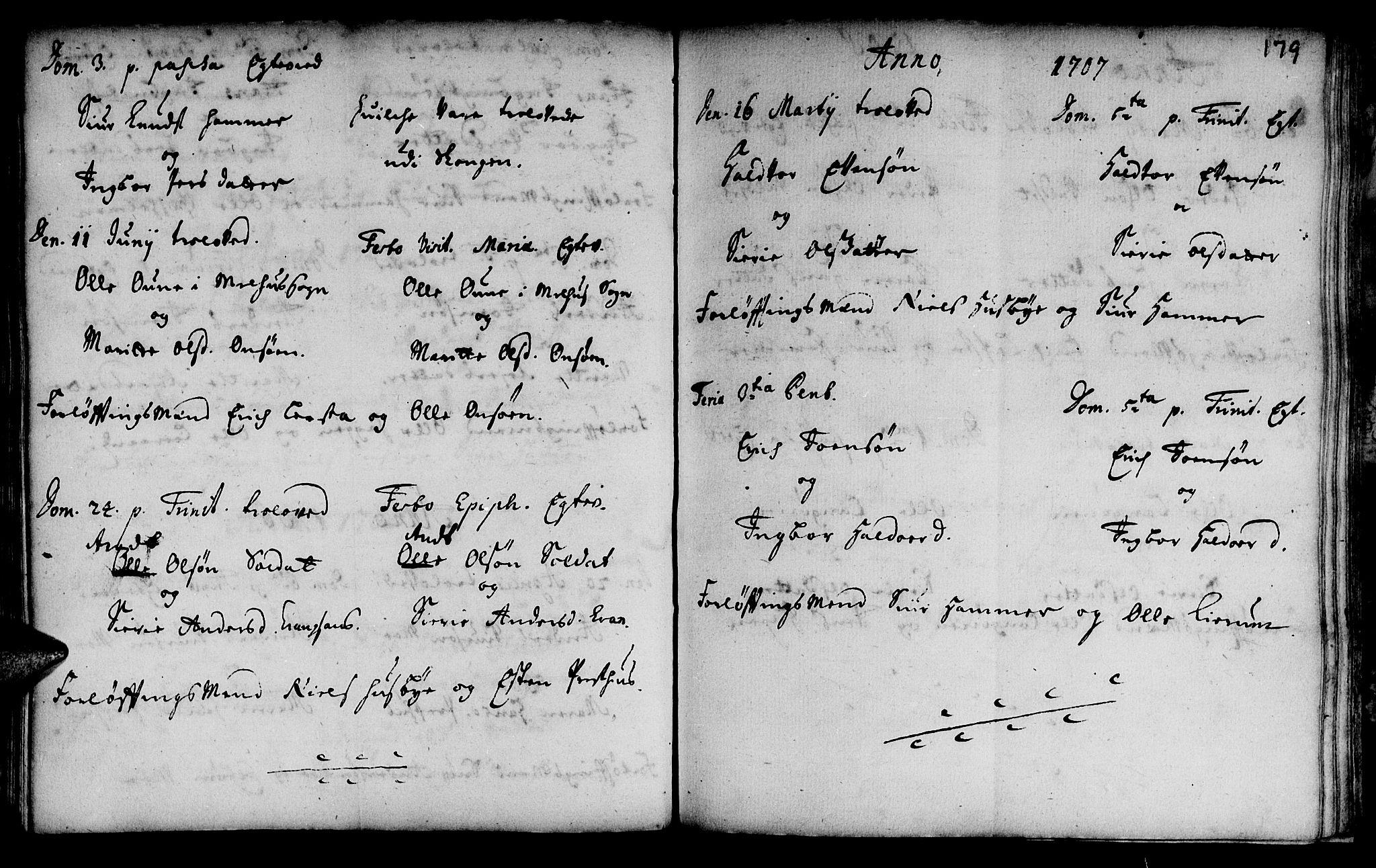 SAT, Ministerialprotokoller, klokkerbøker og fødselsregistre - Sør-Trøndelag, 666/L0783: Ministerialbok nr. 666A01, 1702-1753, s. 179