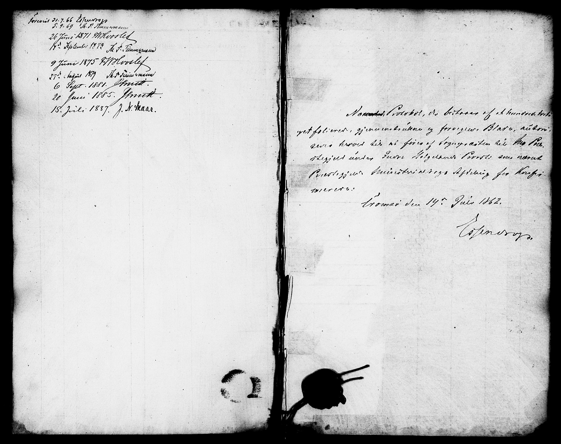 SAT, Ministerialprotokoller, klokkerbøker og fødselsregistre - Nordland, 827/L0394: Ministerialbok nr. 827A06, 1865-1886