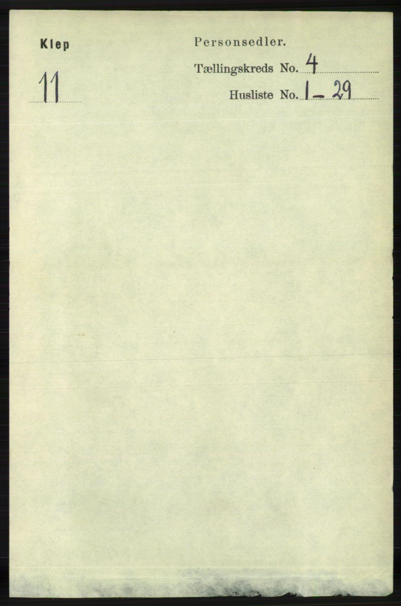 RA, Folketelling 1891 for 1120 Klepp herred, 1891, s. 948