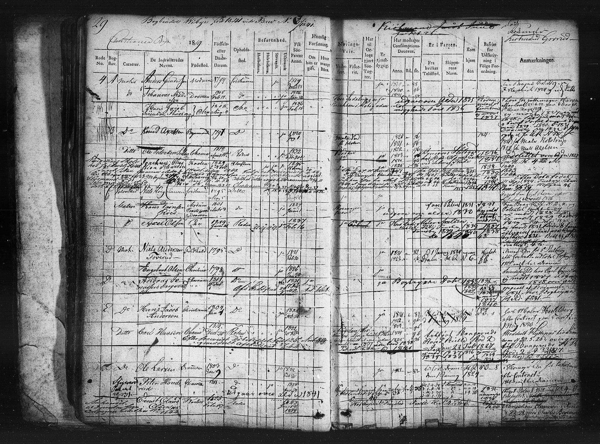 SAO, Oslo mønstringskontor, F/Fc/Fcb/L0001: Hovedrulle, 1819, s. 29