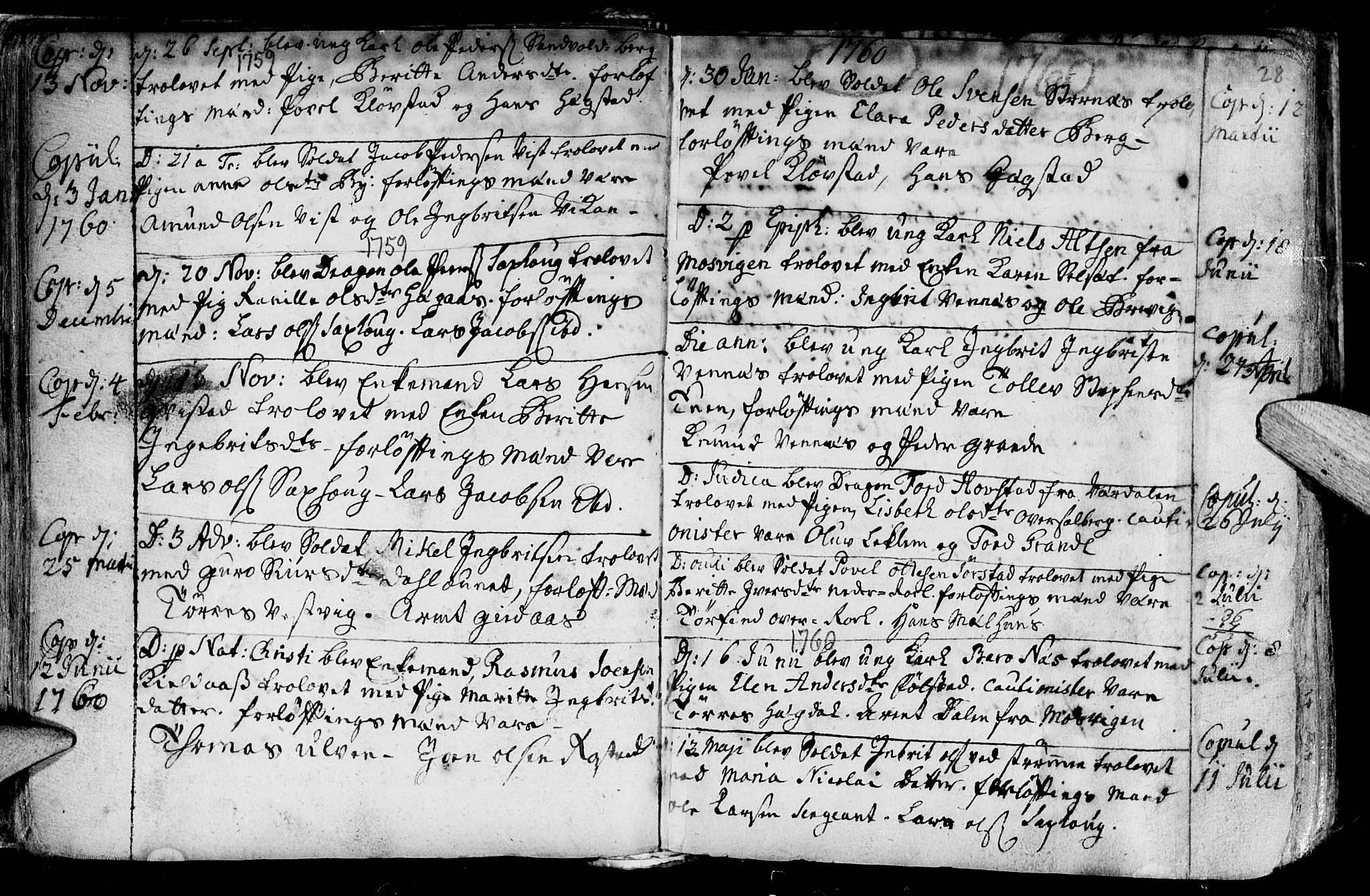 SAT, Ministerialprotokoller, klokkerbøker og fødselsregistre - Nord-Trøndelag, 730/L0272: Ministerialbok nr. 730A01, 1733-1764, s. 28