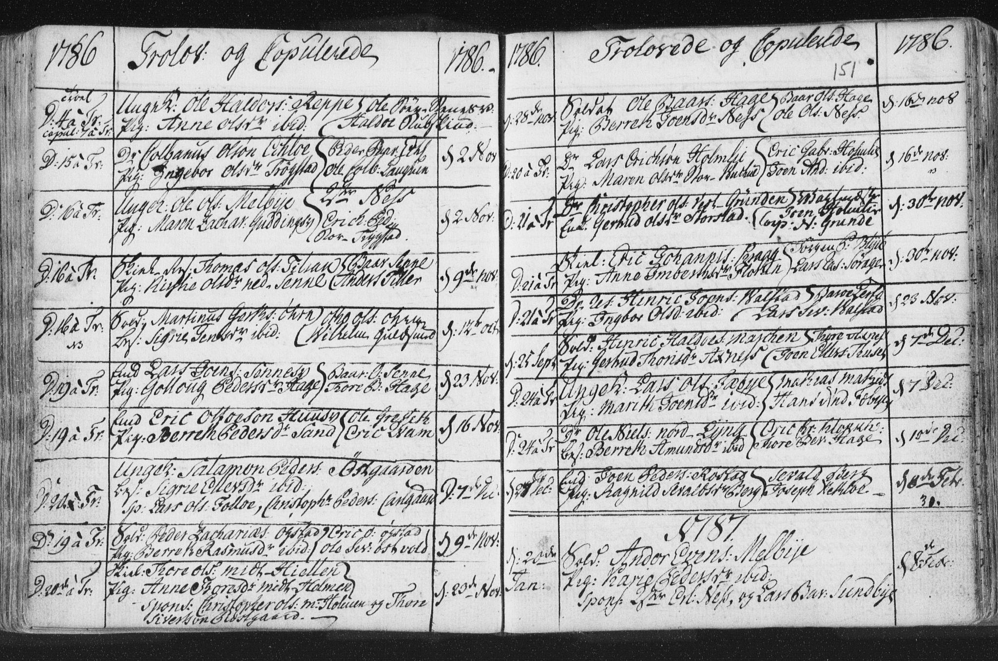 SAT, Ministerialprotokoller, klokkerbøker og fødselsregistre - Nord-Trøndelag, 723/L0232: Ministerialbok nr. 723A03, 1781-1804, s. 151