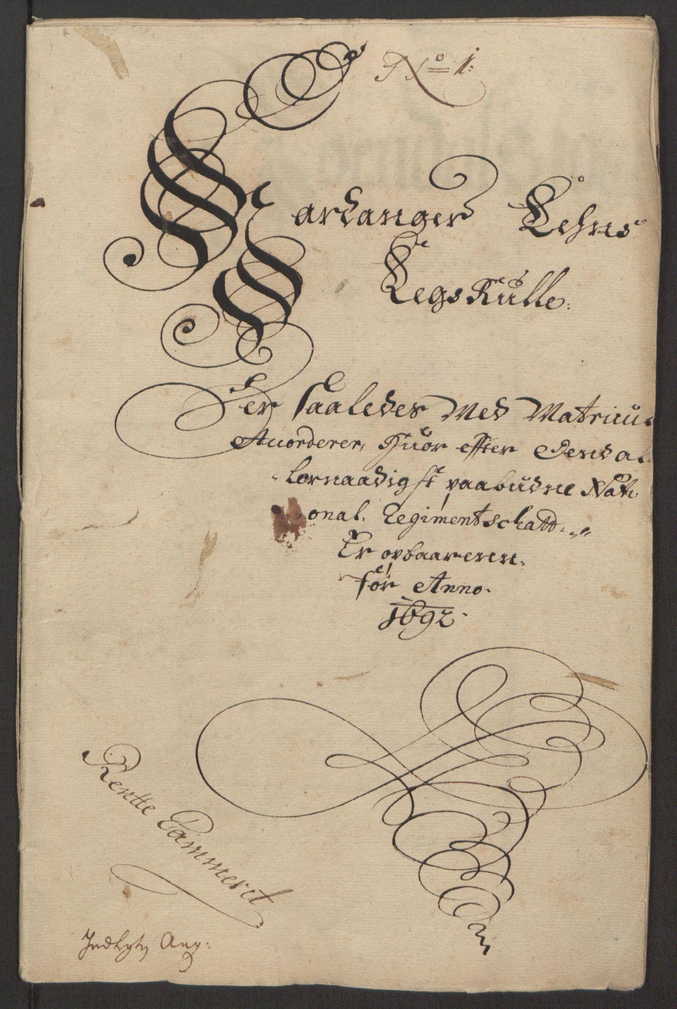 RA, Rentekammeret inntil 1814, Reviderte regnskaper, Fogderegnskap, R48/L2973: Fogderegnskap Sunnhordland og Hardanger, 1691-1692, s. 479