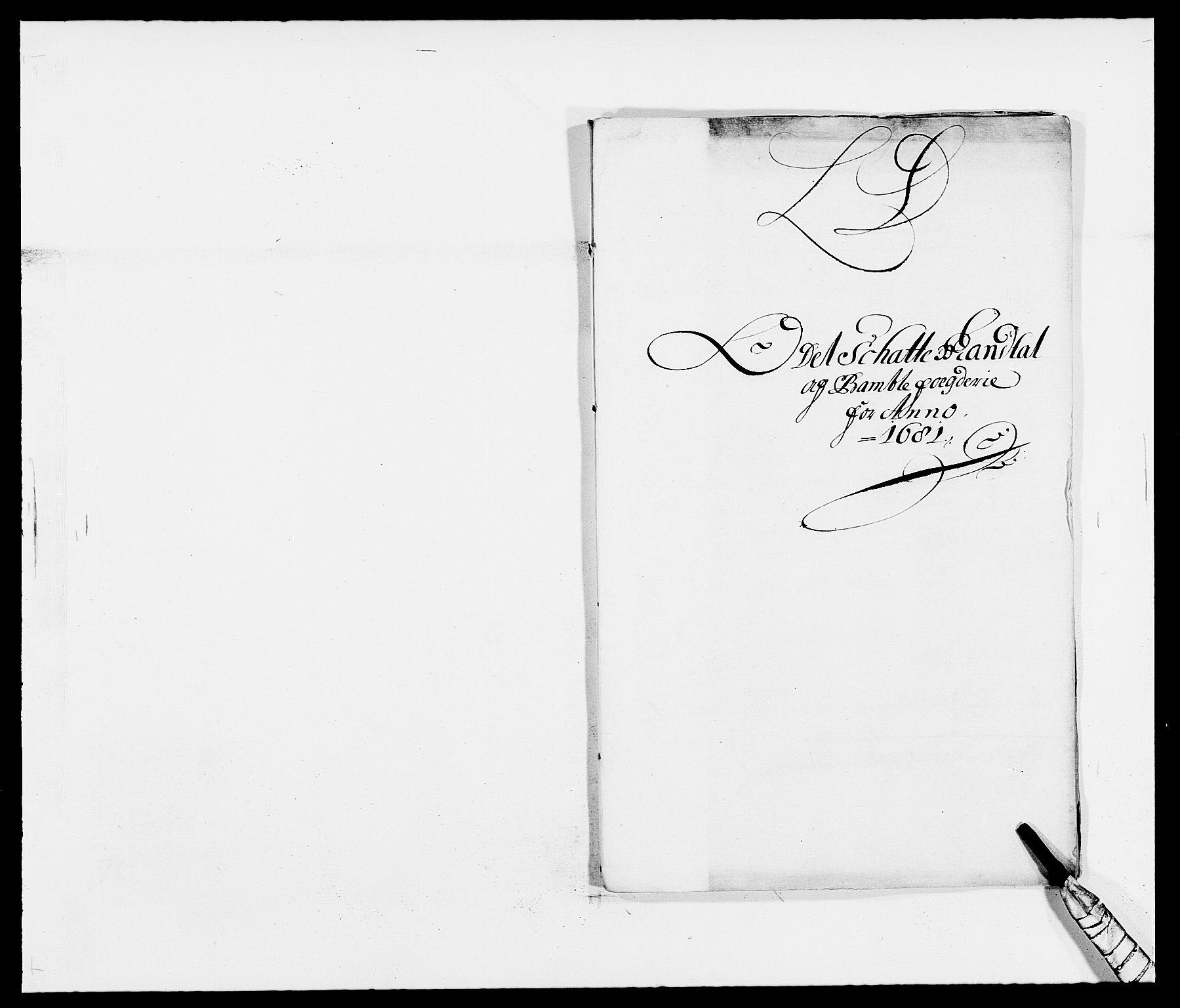 RA, Rentekammeret inntil 1814, Reviderte regnskaper, Fogderegnskap, R34/L2045: Fogderegnskap Bamble, 1680-1681, s. 344