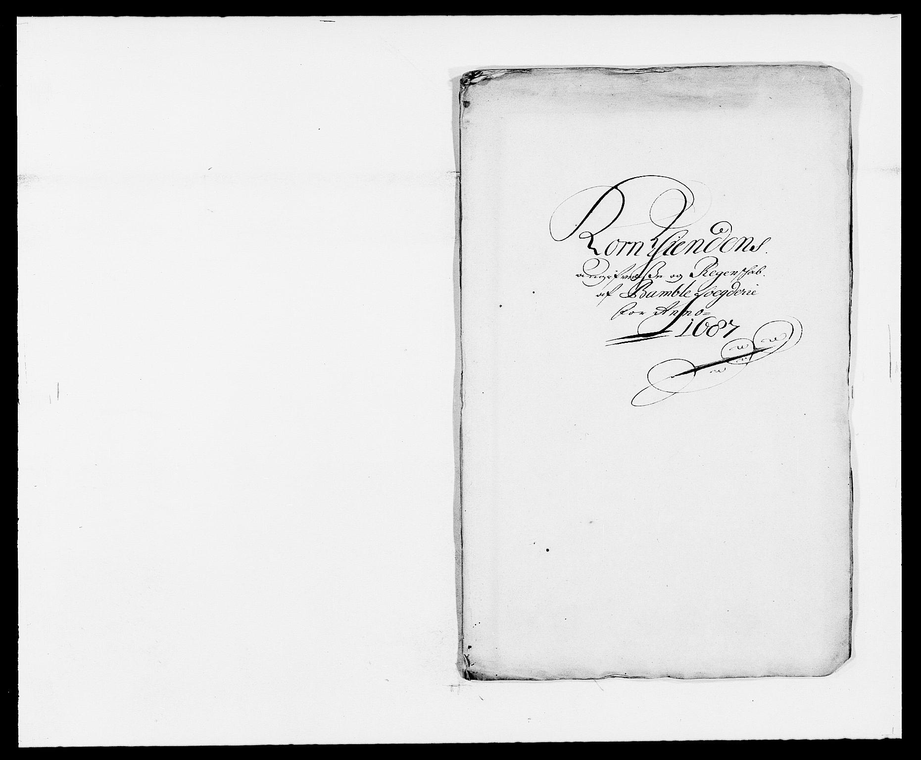 RA, Rentekammeret inntil 1814, Reviderte regnskaper, Fogderegnskap, R34/L2049: Fogderegnskap Bamble, 1685-1687, s. 259