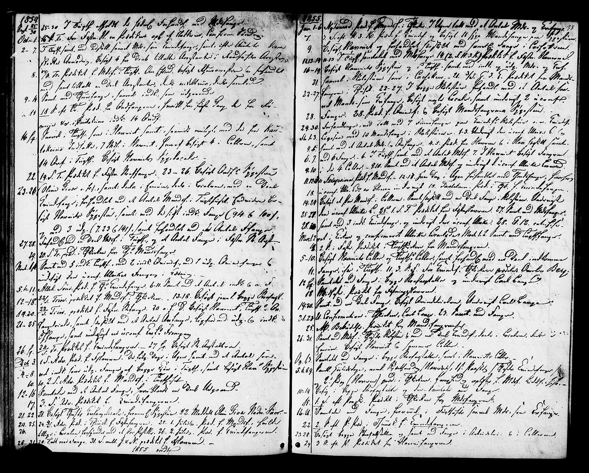 SAT, Ministerialprotokoller, klokkerbøker og fødselsregistre - Sør-Trøndelag, 624/L0481: Ministerialbok nr. 624A02, 1841-1869, s. 38