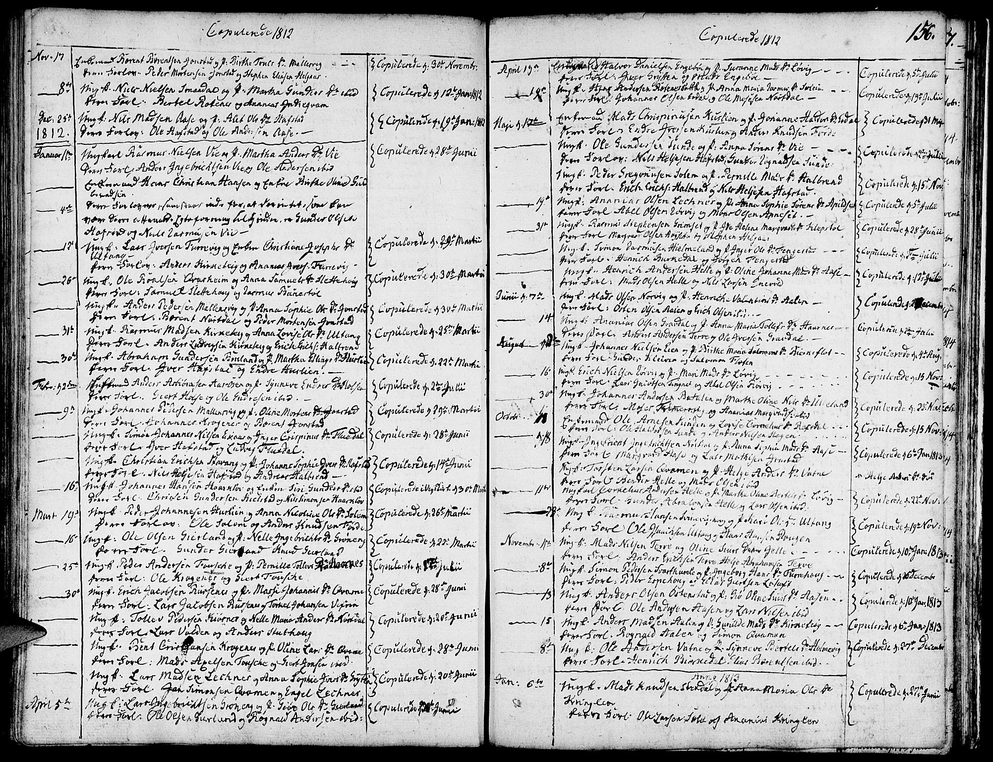 SAB, Førde Sokneprestembete, H/Haa: Ministerialbok nr. A 5, 1803-1821, s. 156