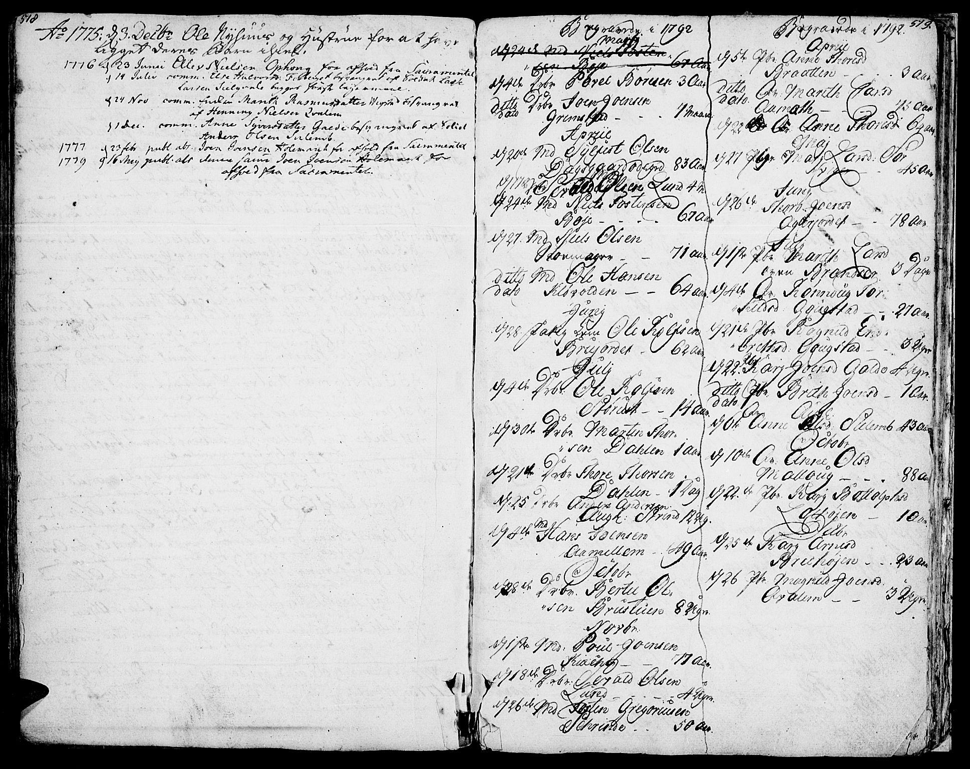 SAH, Lom prestekontor, K/L0002: Ministerialbok nr. 2, 1749-1801, s. 518-519