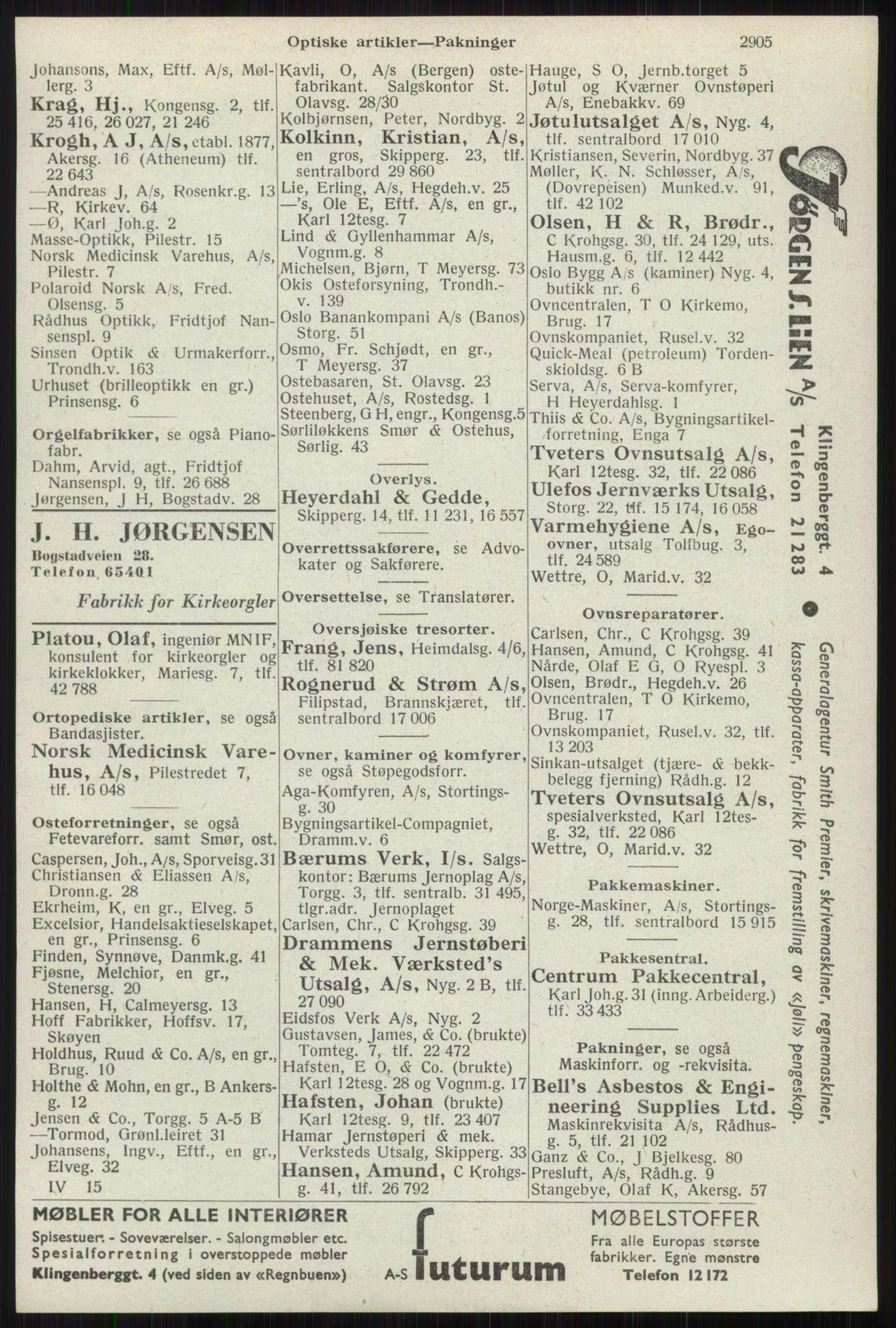 RA, Oslo adressebok (publikasjon)*, 1941, s. 2905