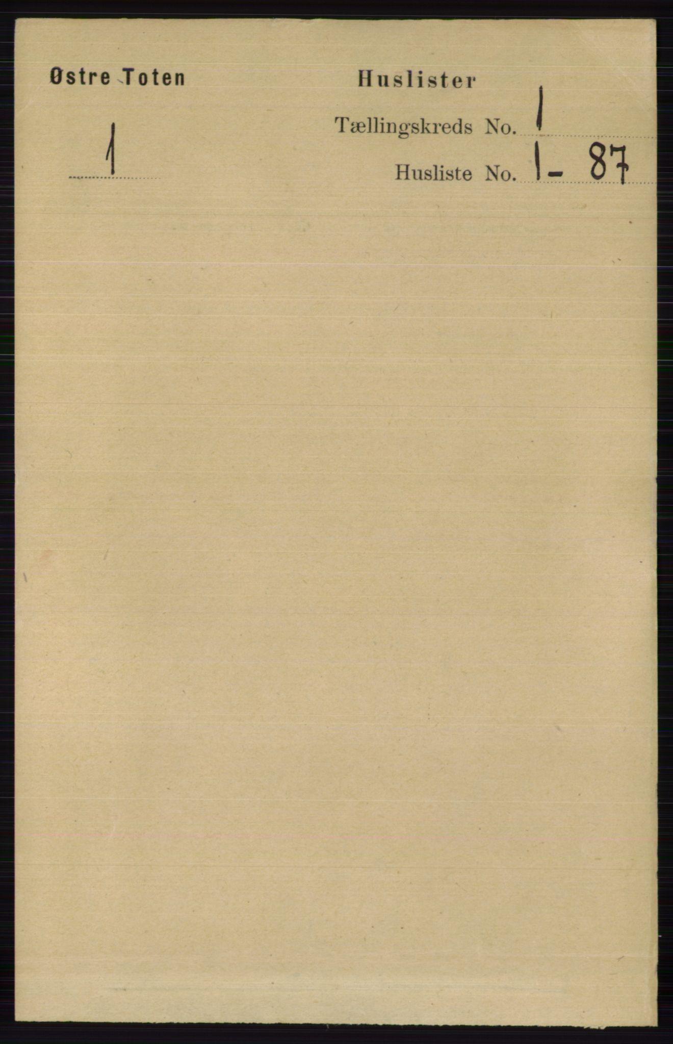 RA, Folketelling 1891 for 0528 Østre Toten herred, 1891, s. 51