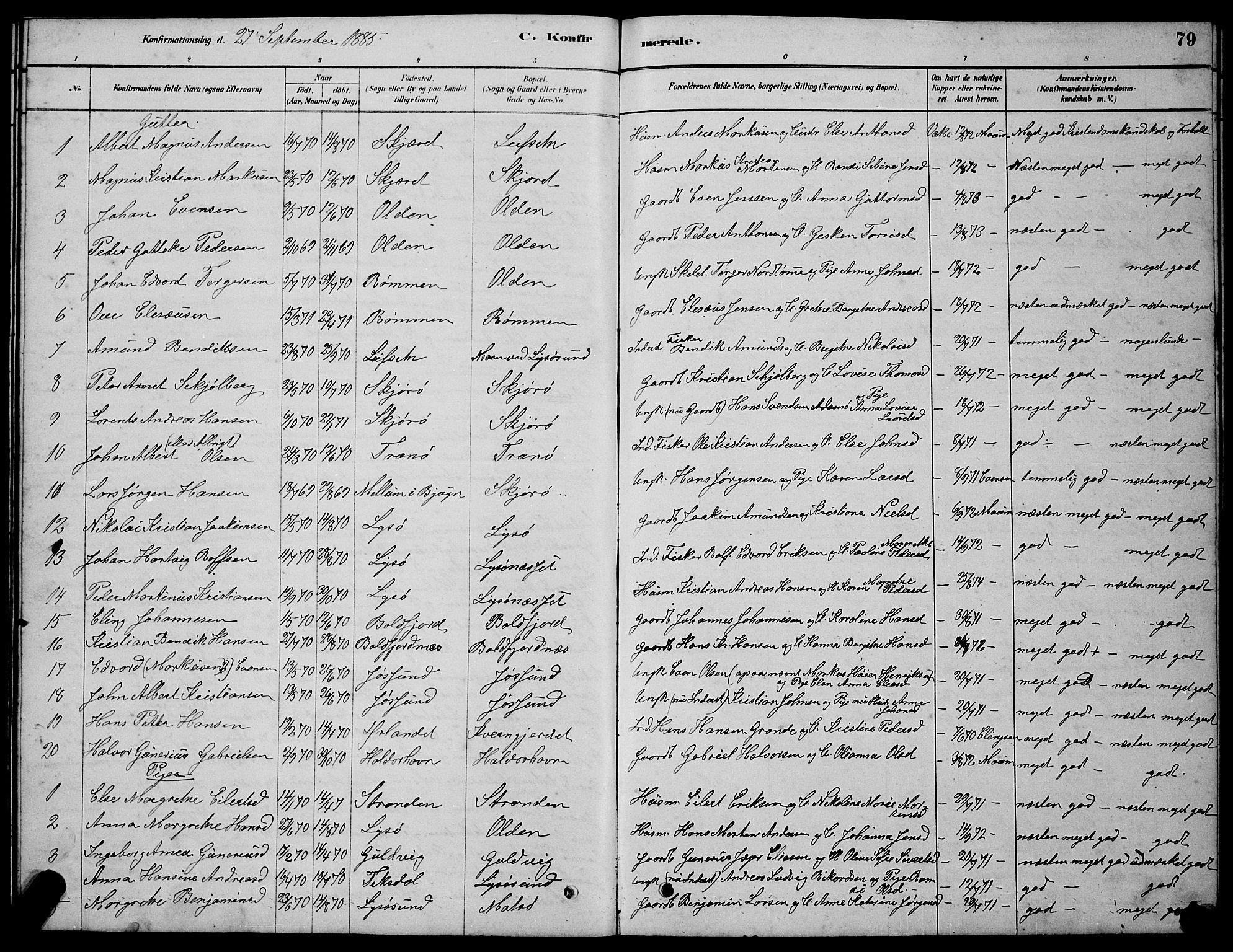 SAT, Ministerialprotokoller, klokkerbøker og fødselsregistre - Sør-Trøndelag, 654/L0665: Klokkerbok nr. 654C01, 1879-1901, s. 79