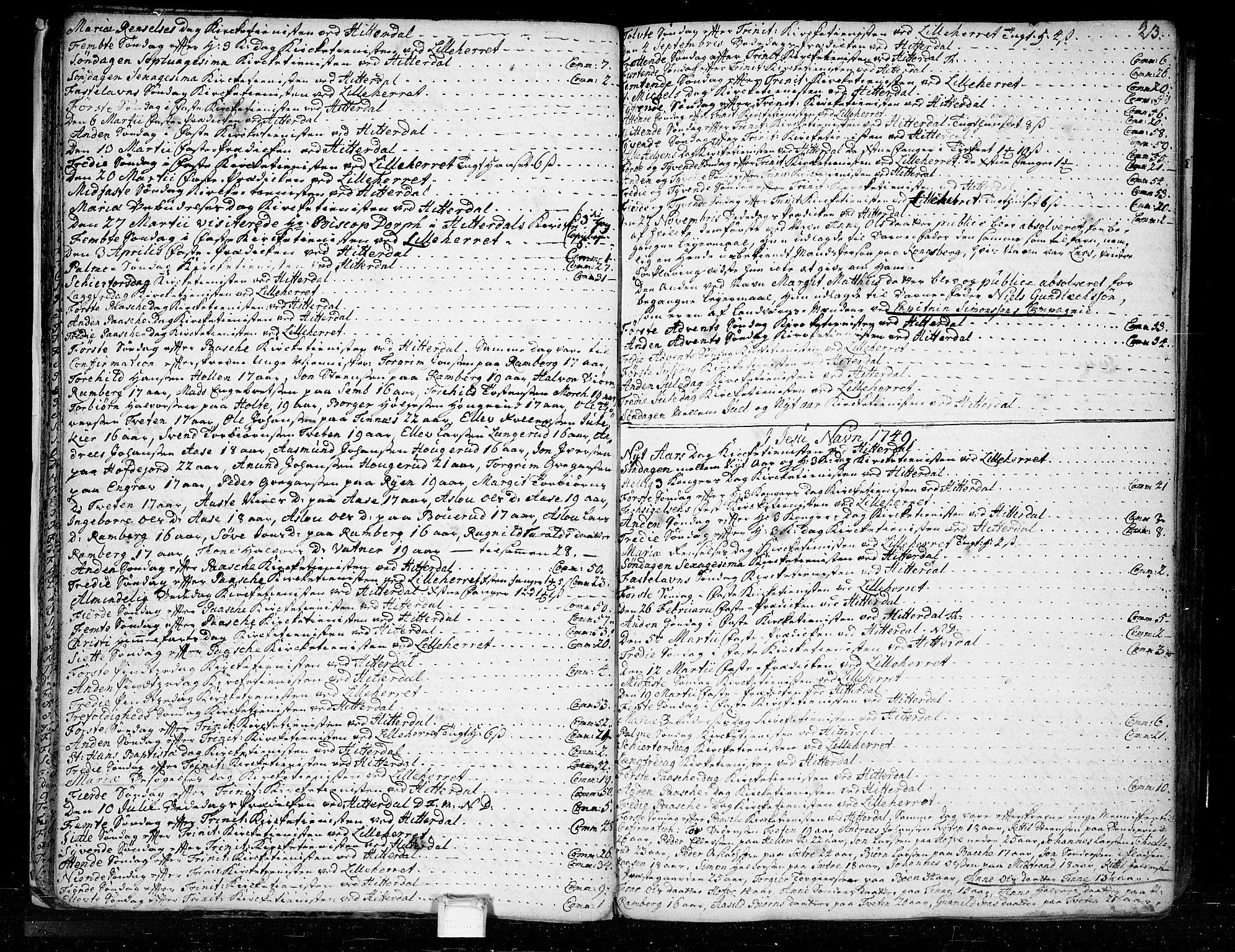 SAKO, Heddal kirkebøker, F/Fa/L0003: Ministerialbok nr. I 3, 1723-1783, s. 23