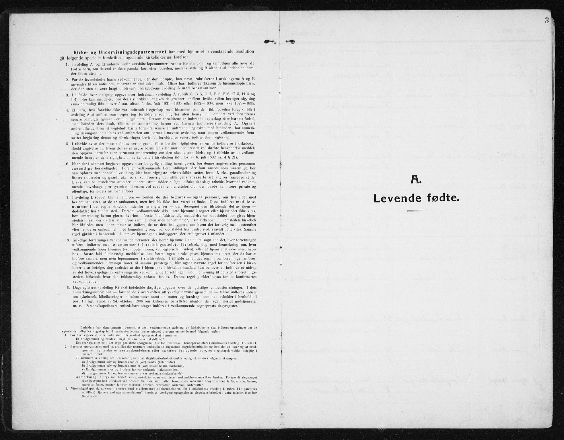 SAT, Ministerialprotokoller, klokkerbøker og fødselsregistre - Sør-Trøndelag, 641/L0599: Klokkerbok nr. 641C03, 1910-1938, s. 3