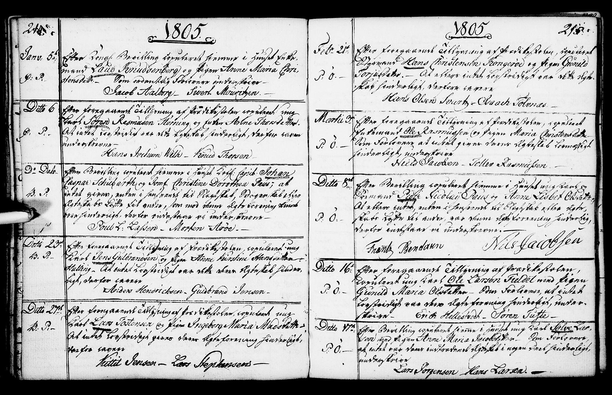 SAKO, Porsgrunn kirkebøker , F/Fa/L0003: Ministerialbok nr. 3, 1764-1814, s. 214-215