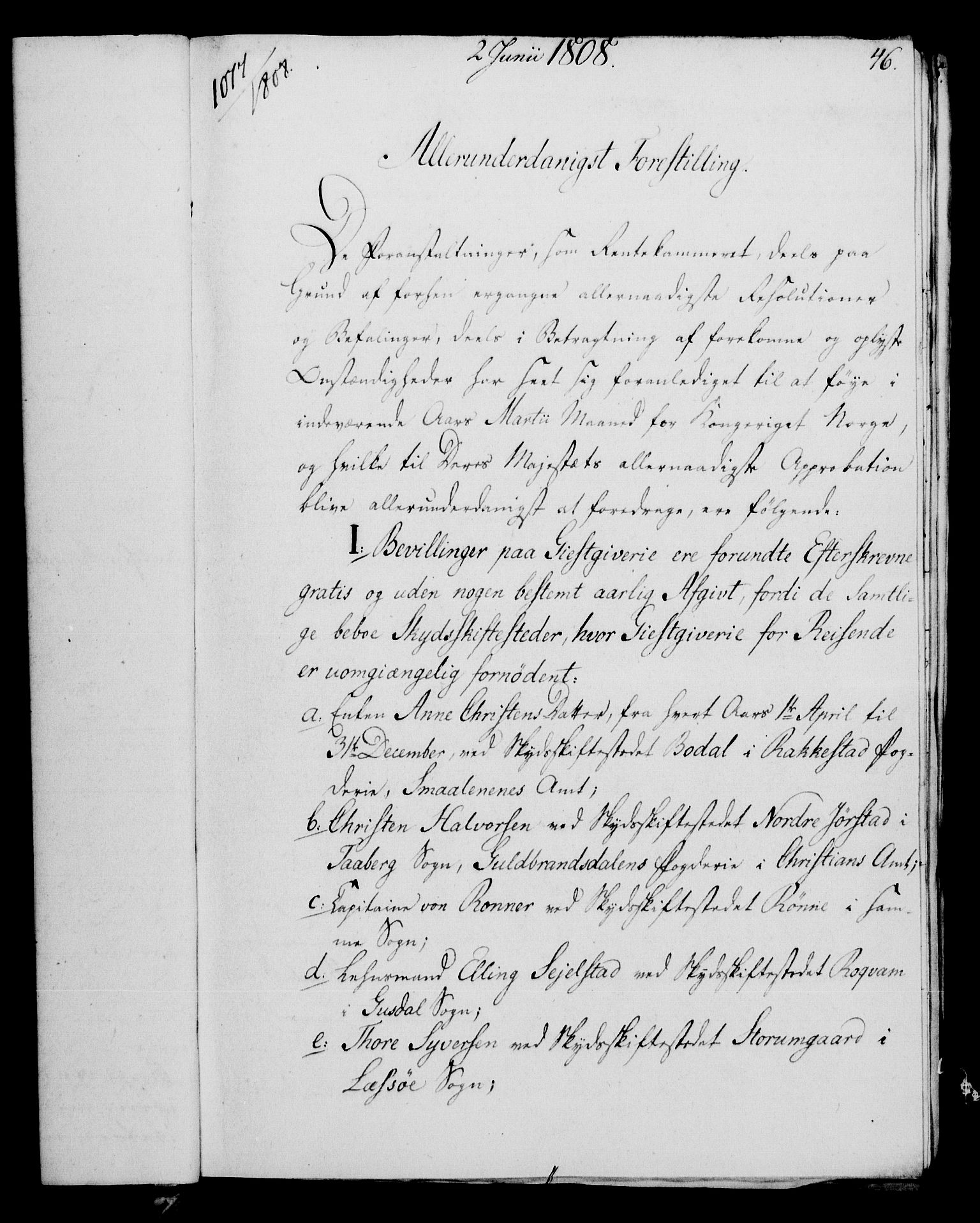 RA, Rentekammeret, Kammerkanselliet, G/Gf/Gfa/L0090: Norsk relasjons- og resolusjonsprotokoll (merket RK 52.90), 1808, s. 241