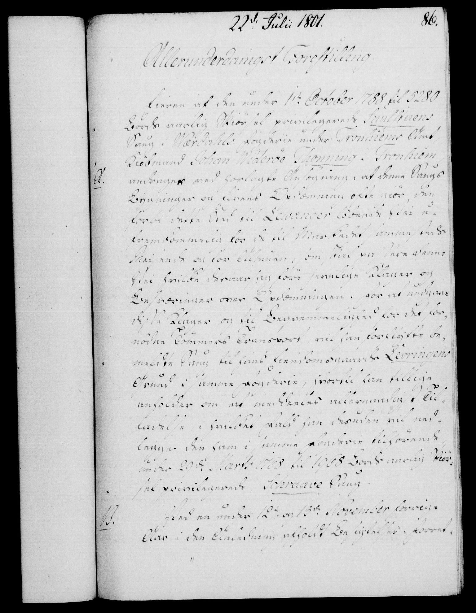 RA, Rentekammeret, Kammerkanselliet, G/Gf/Gfa/L0083: Norsk relasjons- og resolusjonsprotokoll (merket RK 52.83), 1801, s. 495