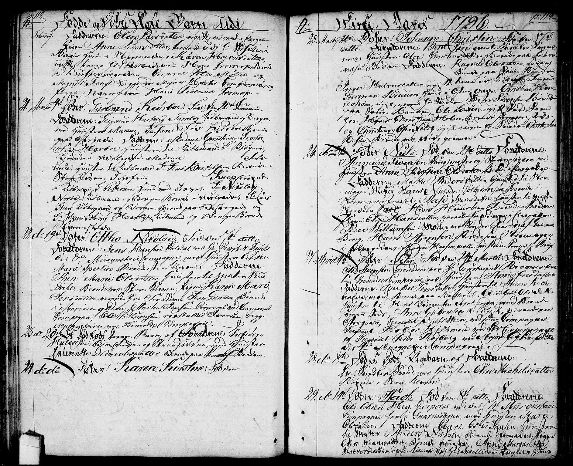 SAO, Halden prestekontor Kirkebøker, F/Fa/L0002: Ministerialbok nr. I 2, 1792-1812, s. 118-119