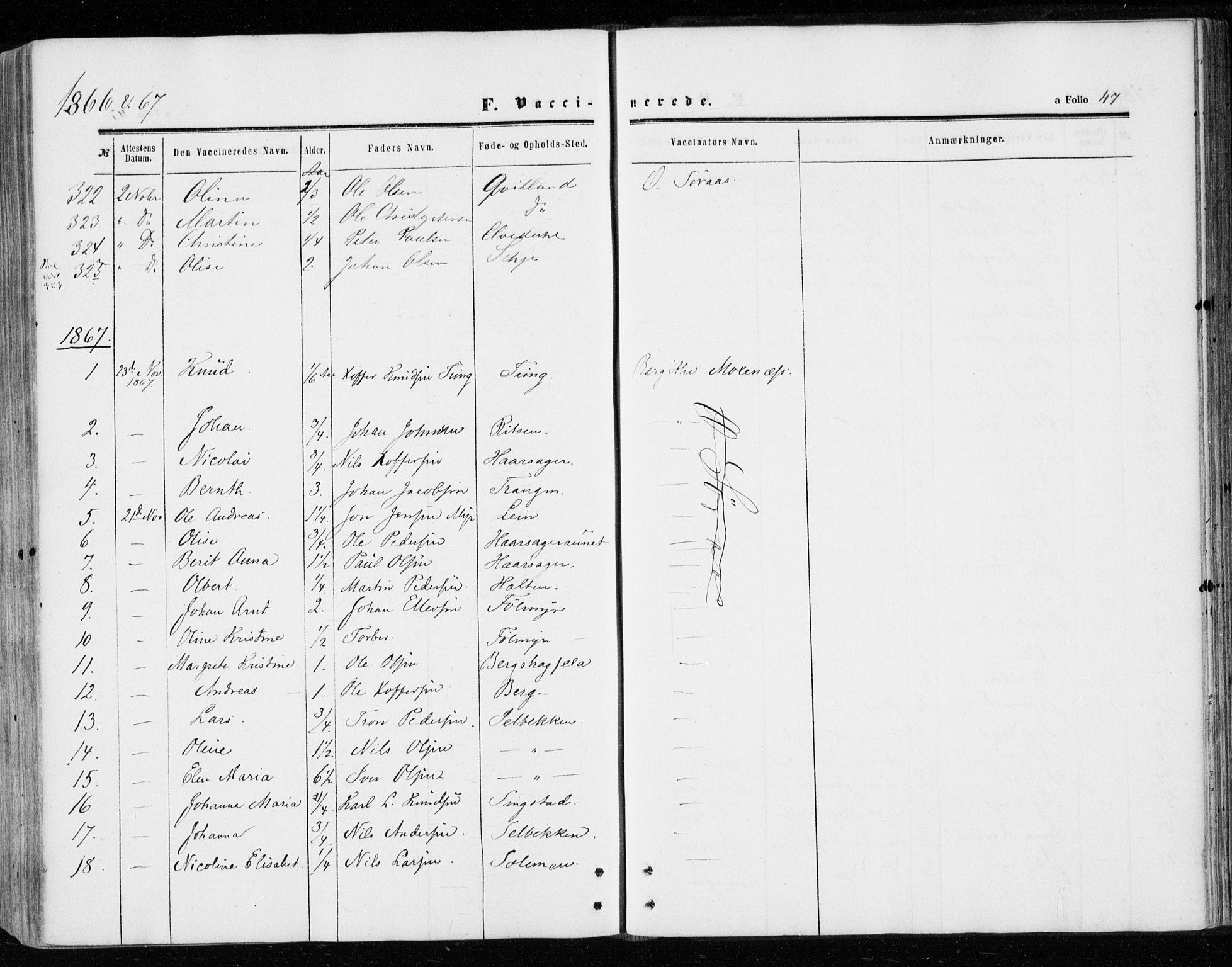 SAT, Ministerialprotokoller, klokkerbøker og fødselsregistre - Sør-Trøndelag, 646/L0612: Ministerialbok nr. 646A10, 1858-1869, s. 47