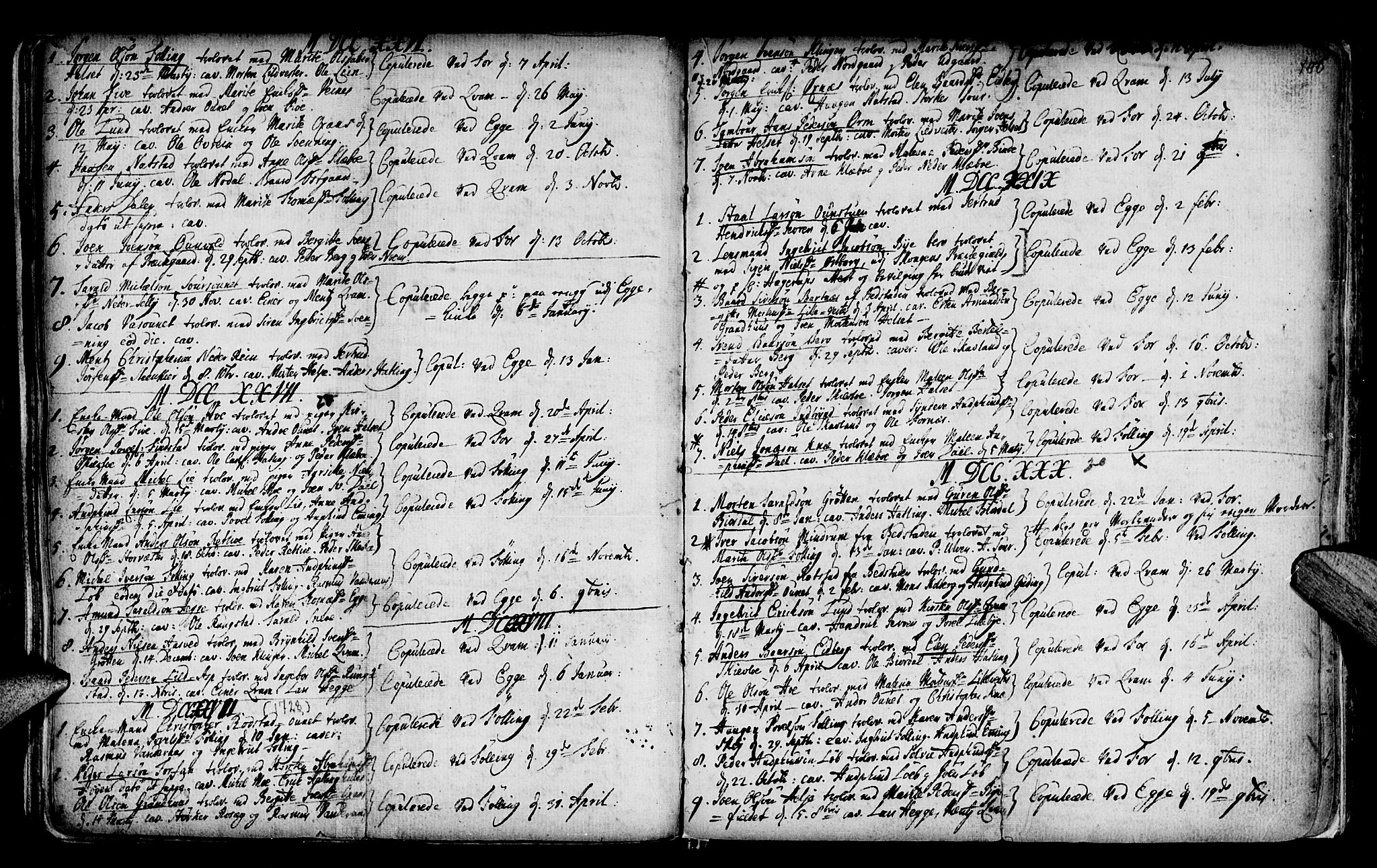 SAT, Ministerialprotokoller, klokkerbøker og fødselsregistre - Nord-Trøndelag, 746/L0439: Ministerialbok nr. 746A01, 1688-1759, s. 100