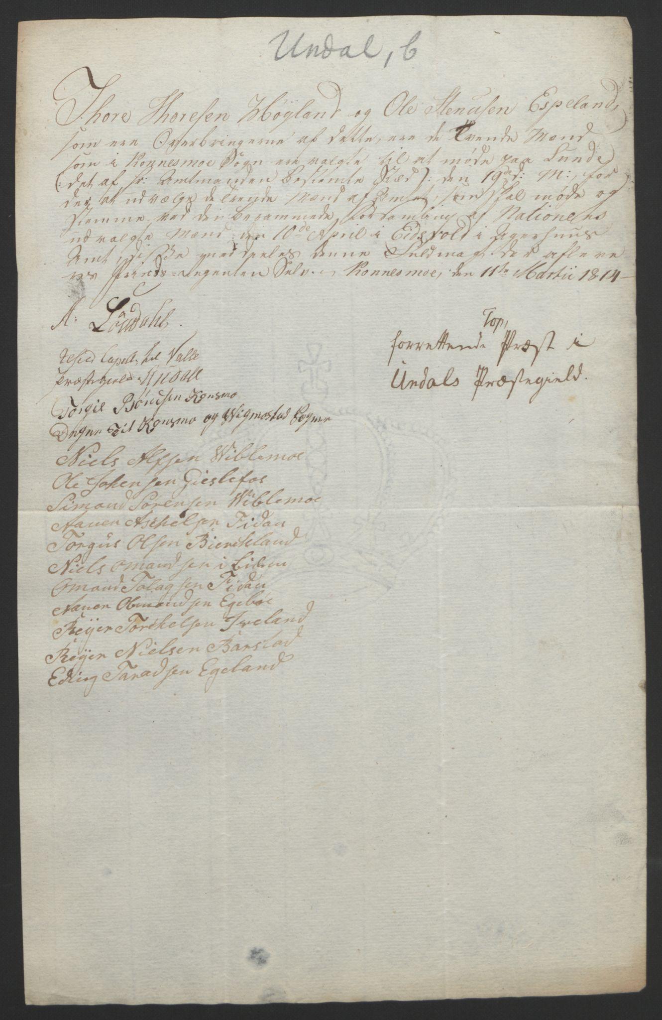 RA, Statsrådssekretariatet, D/Db/L0008: Fullmakter for Eidsvollsrepresentantene i 1814. , 1814, s. 139