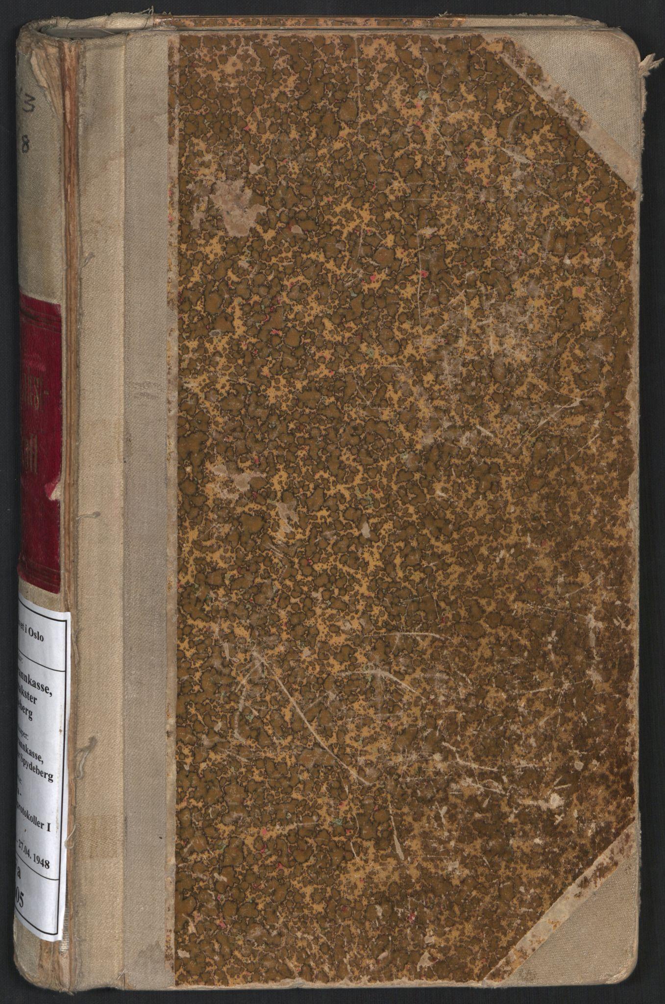 SAO, Norges brannkasse, branntakster Spydeberg, F/Fa/L0005: Branntakstprotokoll, 1943-1948