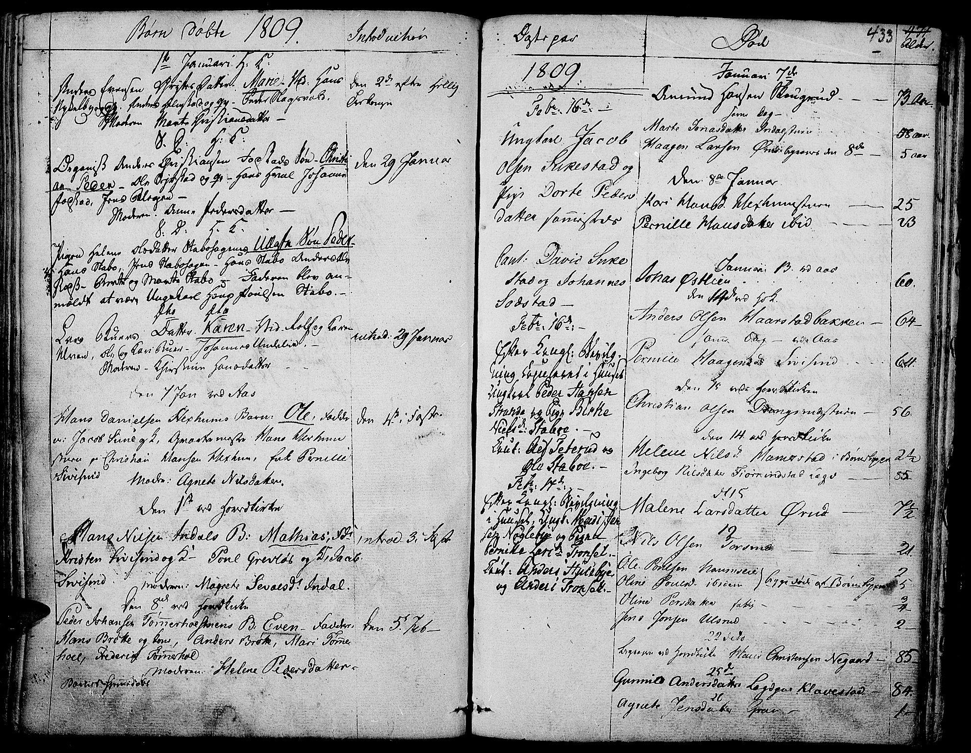 SAH, Toten prestekontor, Ministerialbok nr. 7, 1794-1809, s. 433