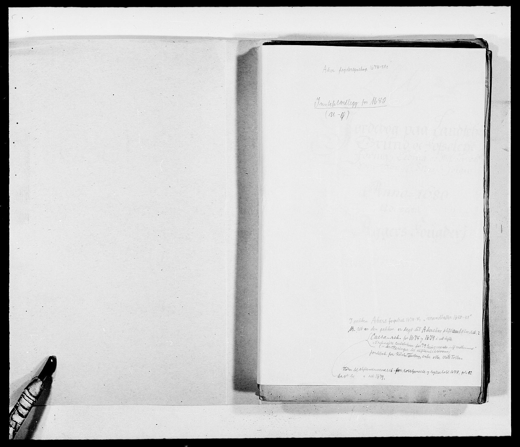 RA, Rentekammeret inntil 1814, Reviderte regnskaper, Fogderegnskap, R08/L0417: Fogderegnskap Aker, 1678-1681, s. 2