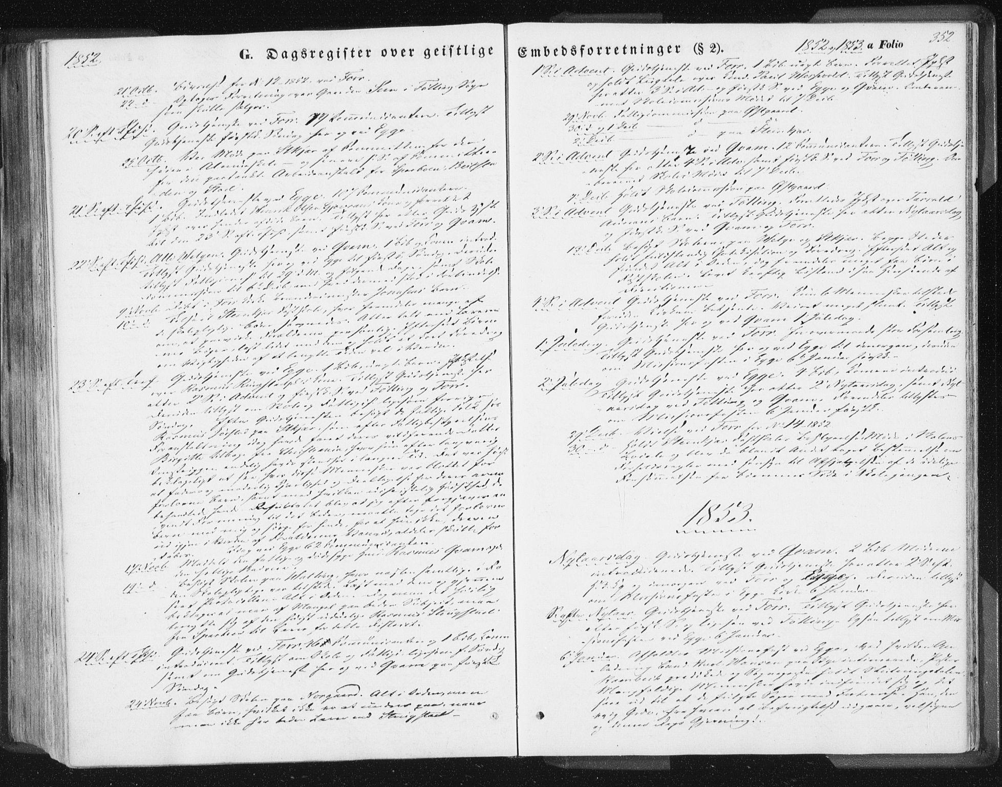 SAT, Ministerialprotokoller, klokkerbøker og fødselsregistre - Nord-Trøndelag, 746/L0446: Ministerialbok nr. 746A05, 1846-1859, s. 352